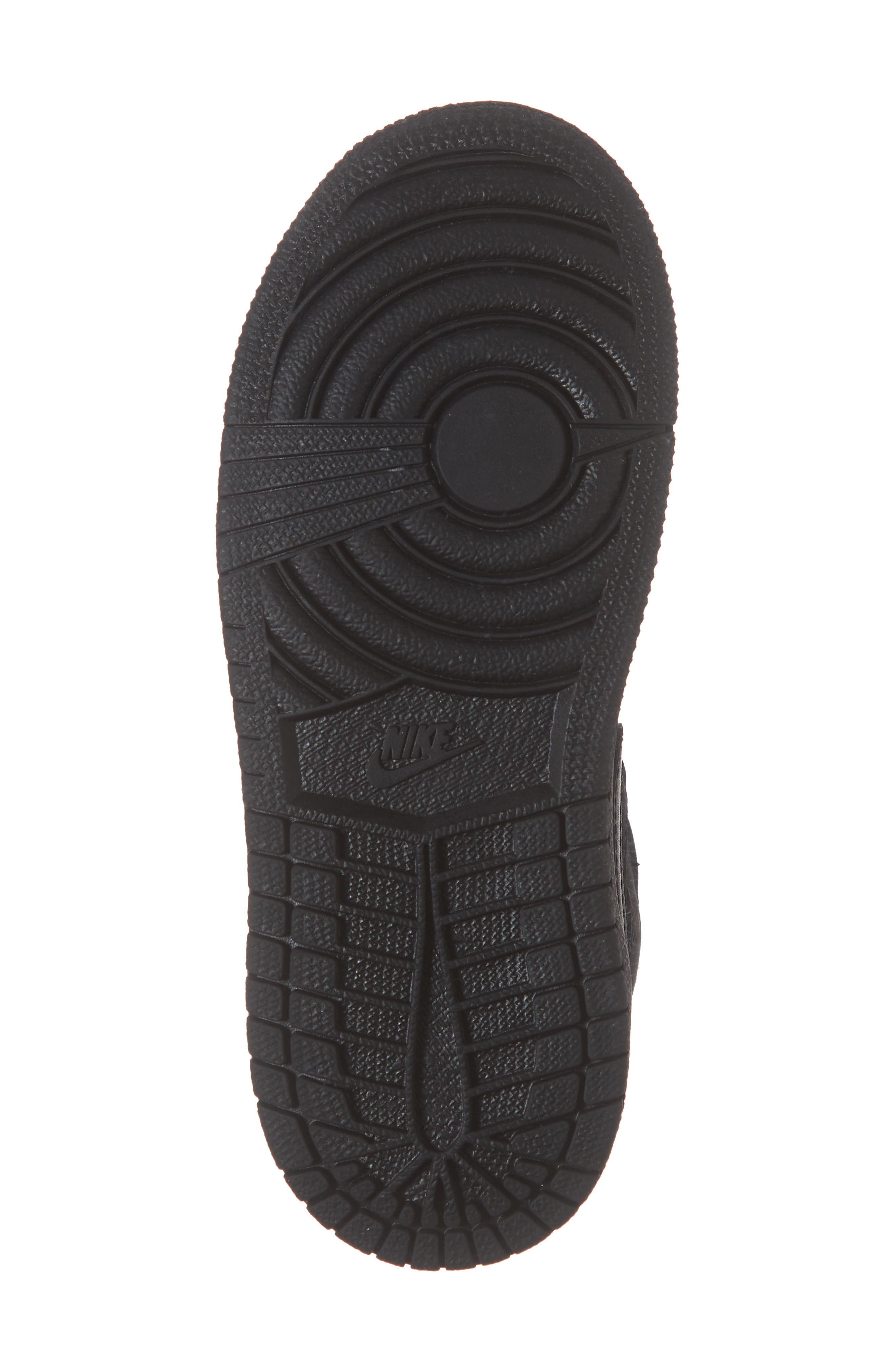 Nike 'Air Jordan 1 Mid' Sneaker,                             Alternate thumbnail 6, color,                             BLACK/ DARK GREY/ BLACK