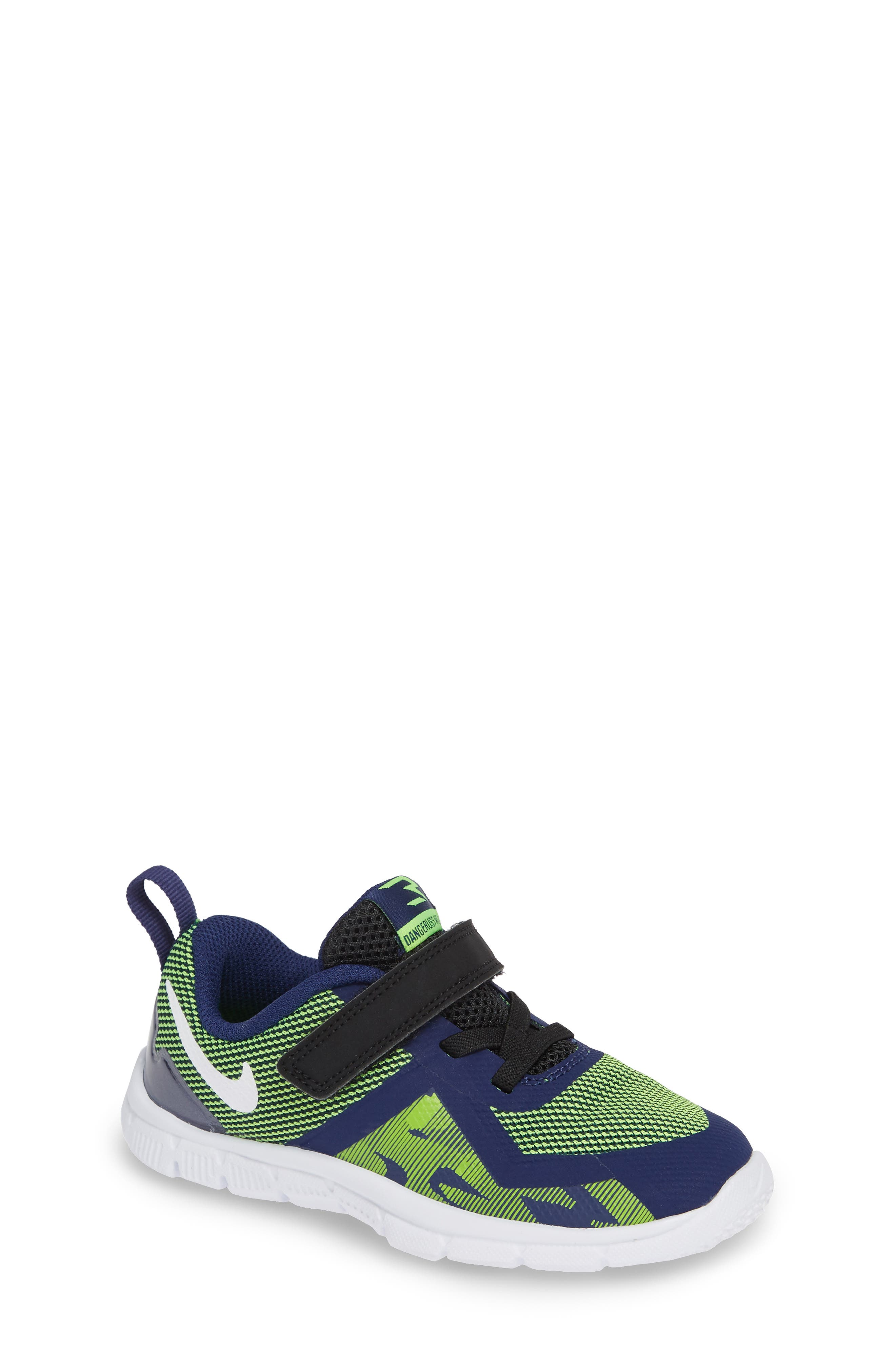 Flex Control II Training Shoe,                         Main,                         color, BLUE/ WHITE/ ELECTRIC GREEN