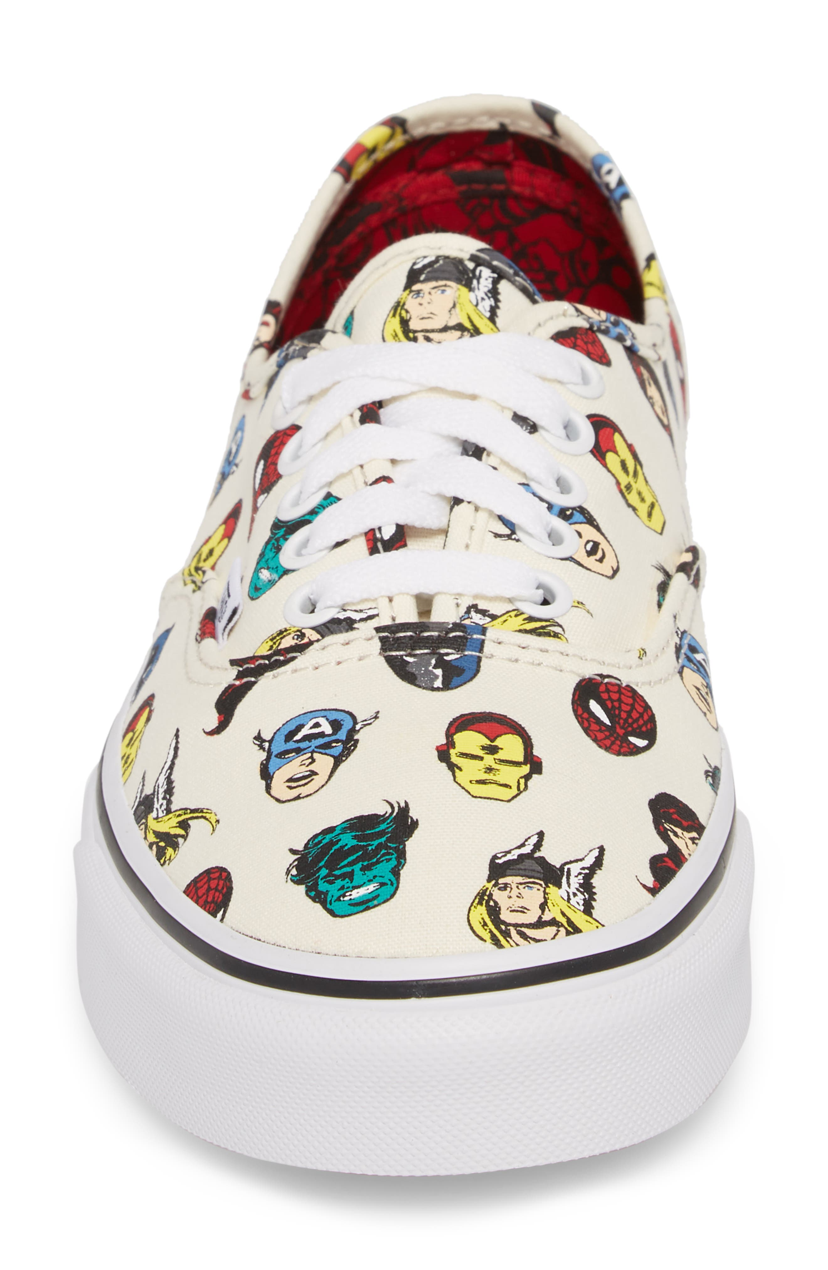 x Marvel<sup>®</sup> UA Authentic Sneaker,                             Alternate thumbnail 4, color,
