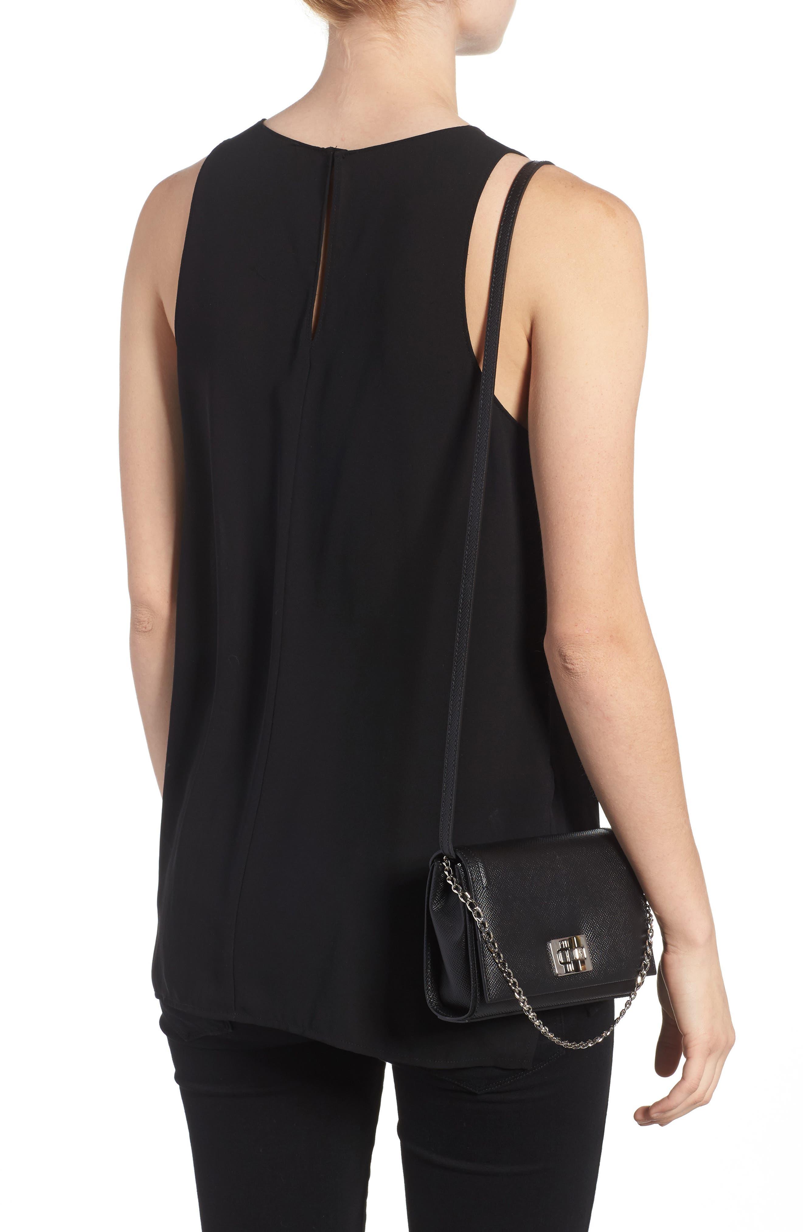 Mini Ilenea Leather Crossbody Bag,                             Alternate thumbnail 2, color,                             001