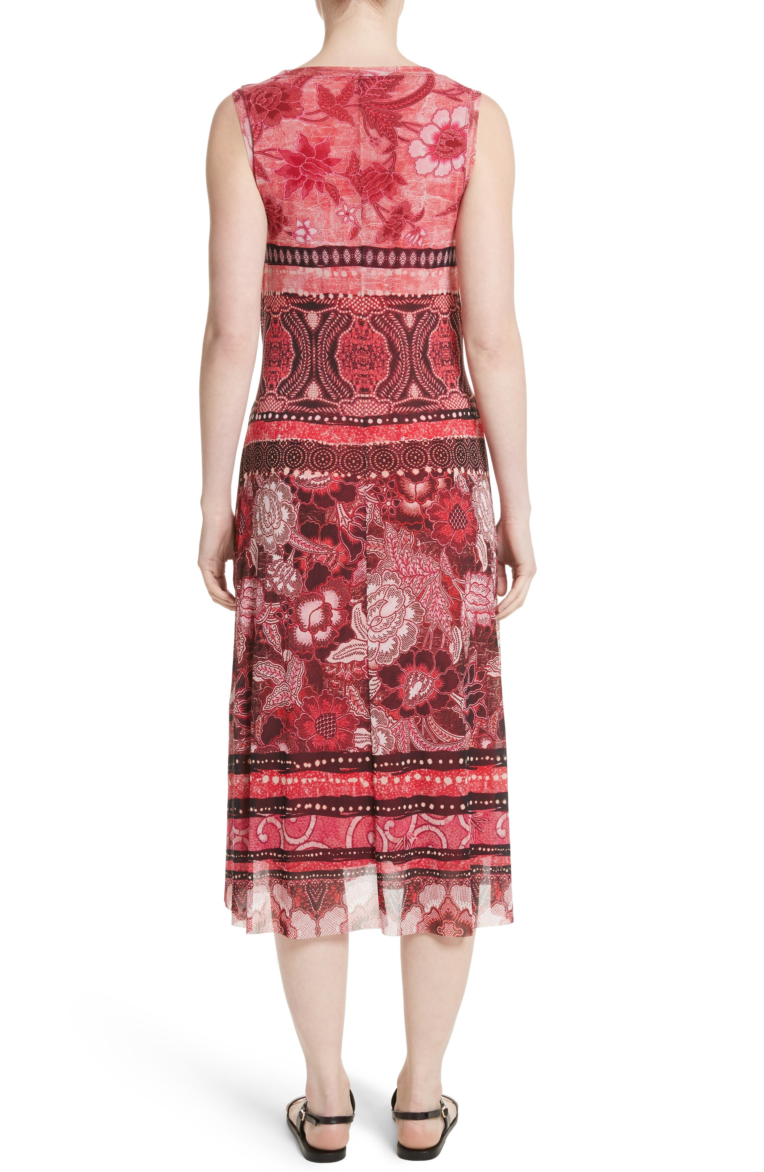 Print Tulle Midi Dress,                             Alternate thumbnail 2, color,                             691