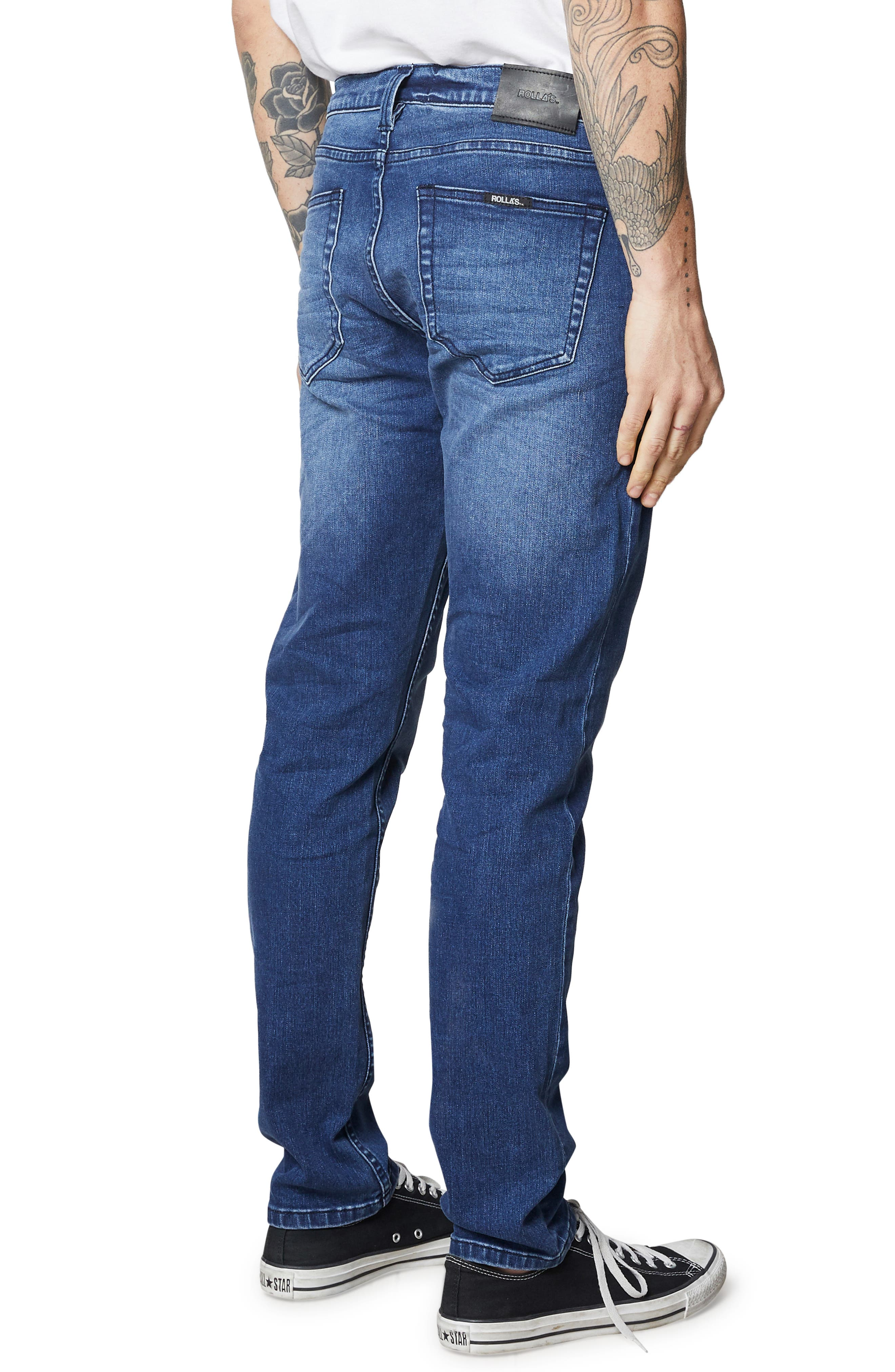 ROLLA'S,                             Tim Slims Slim Fit Jeans,                             Alternate thumbnail 5, color,                             FOSTERS BLUE