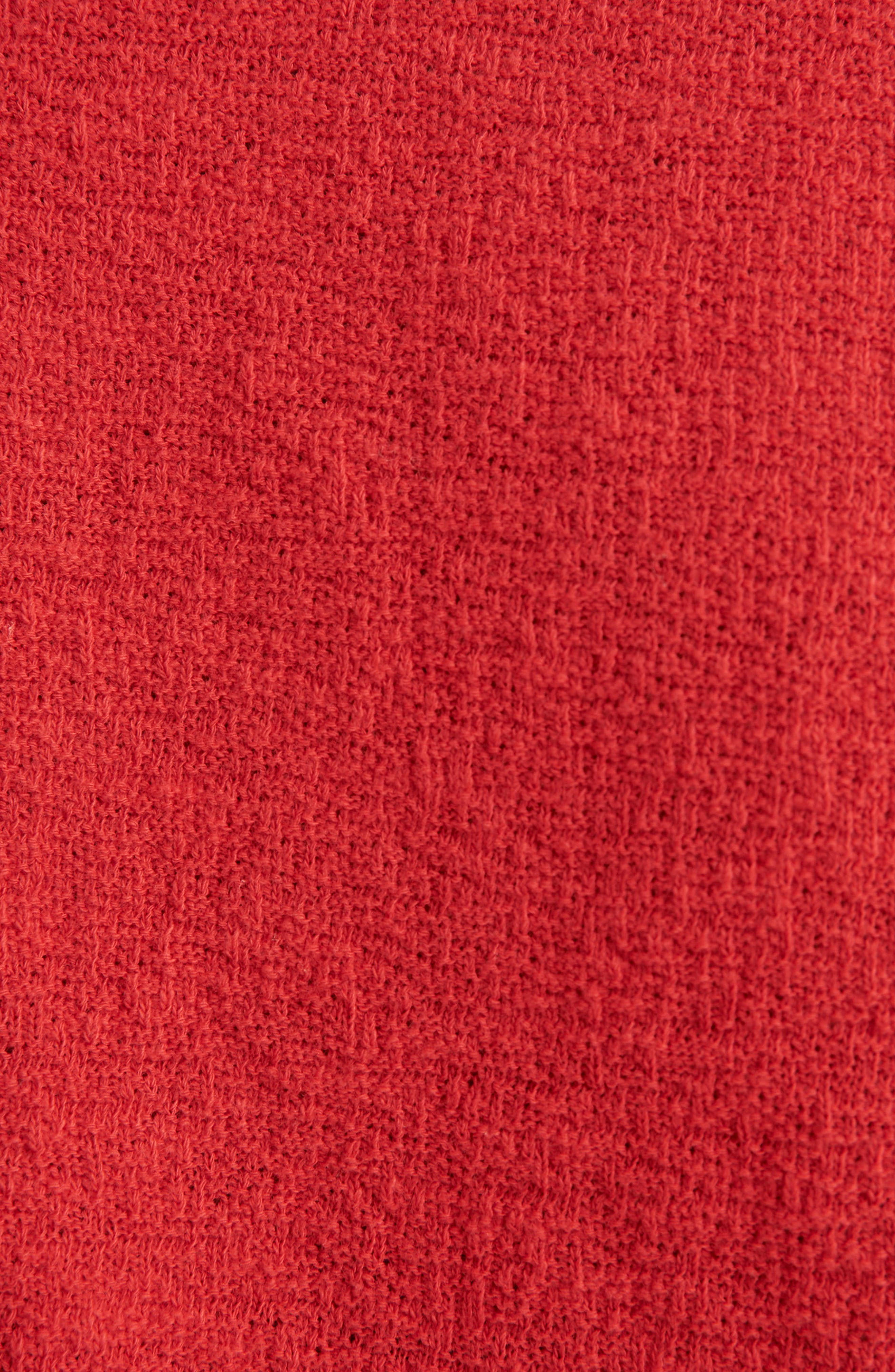 Texture & Thread V-Neck Modern Tie-Front Top,                             Alternate thumbnail 5, color,                             CRANBERRY