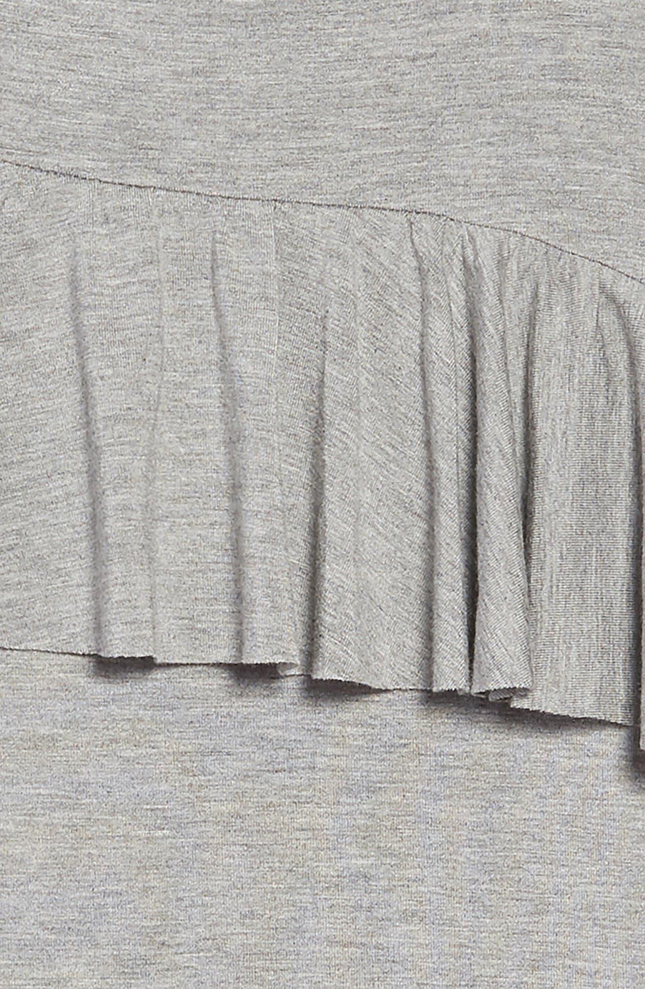 Asymmetrical Ruffle T-Shirt Dress,                             Alternate thumbnail 3, color,                             030