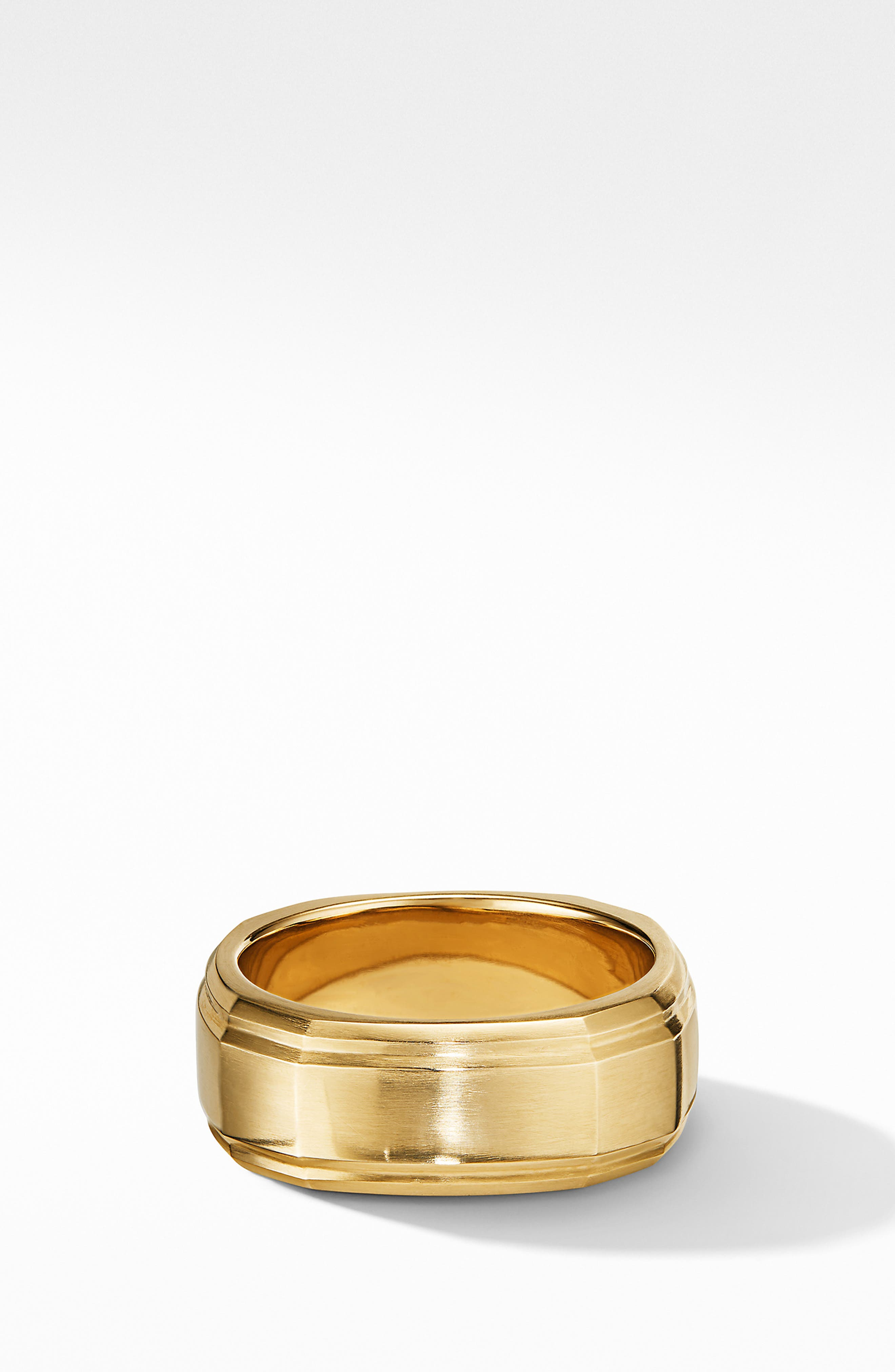 18K Gold Deco Band Ring, Main, color, GOLD