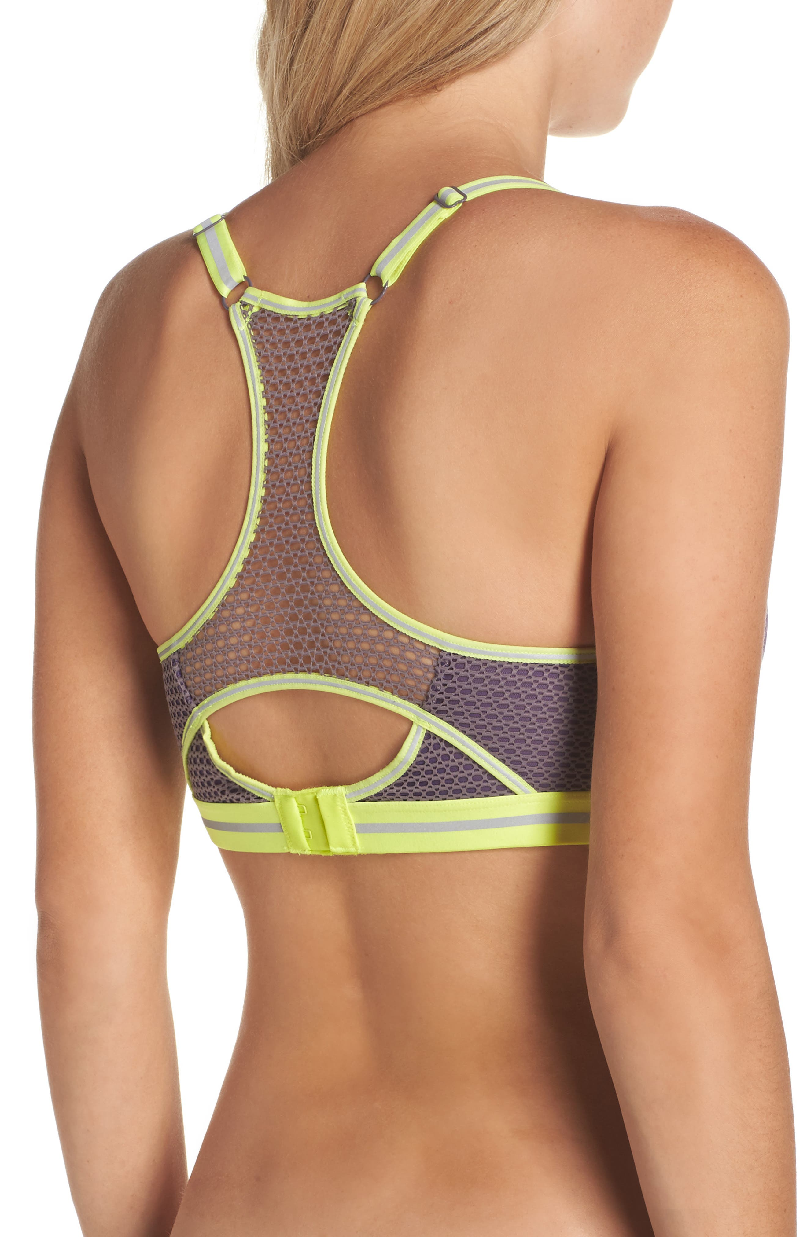 Active Uplift Underwire Push-Up Sports Bra,                             Alternate thumbnail 7, color,