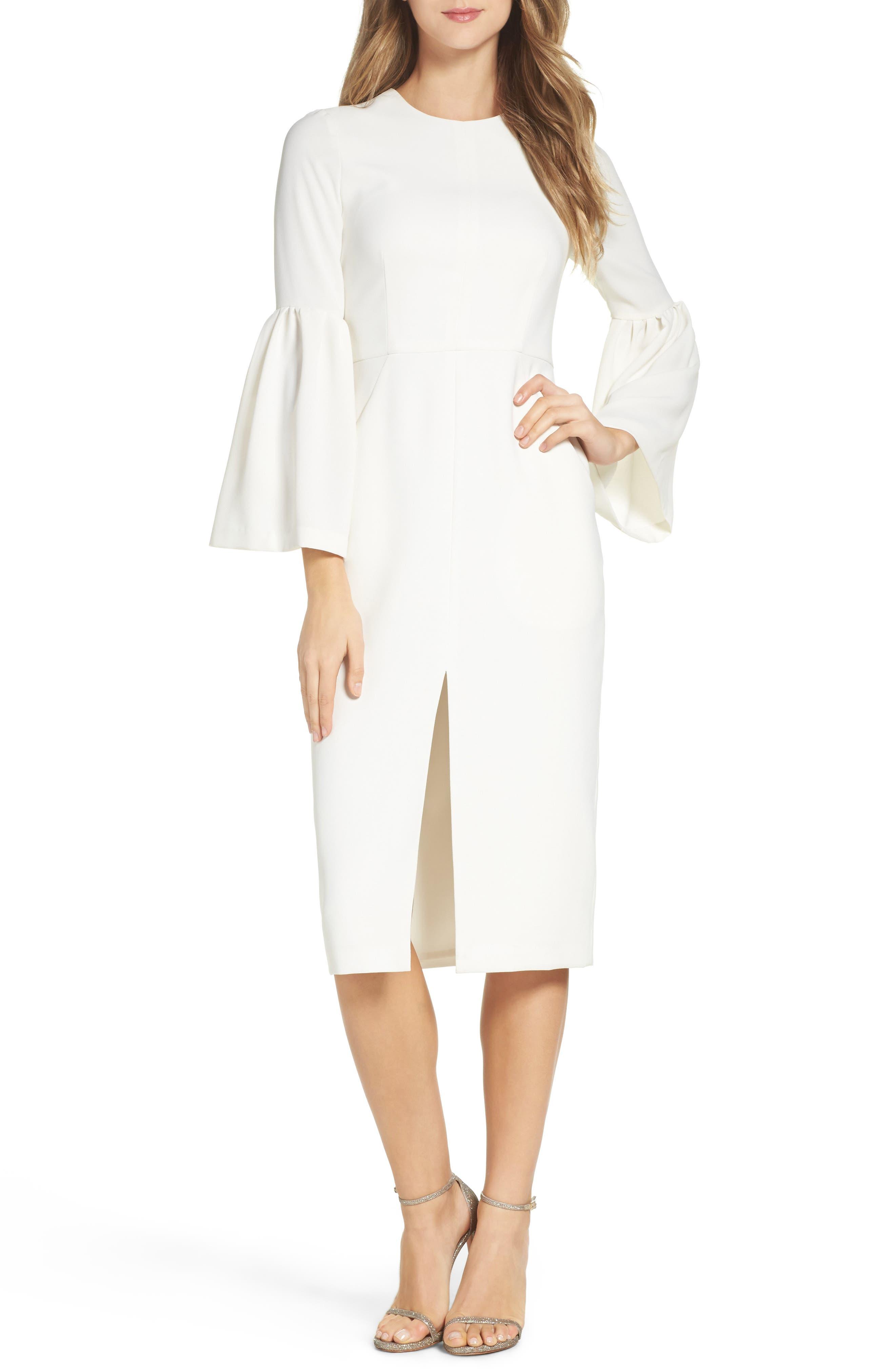 Crepe Midi Dress,                             Main thumbnail 1, color,