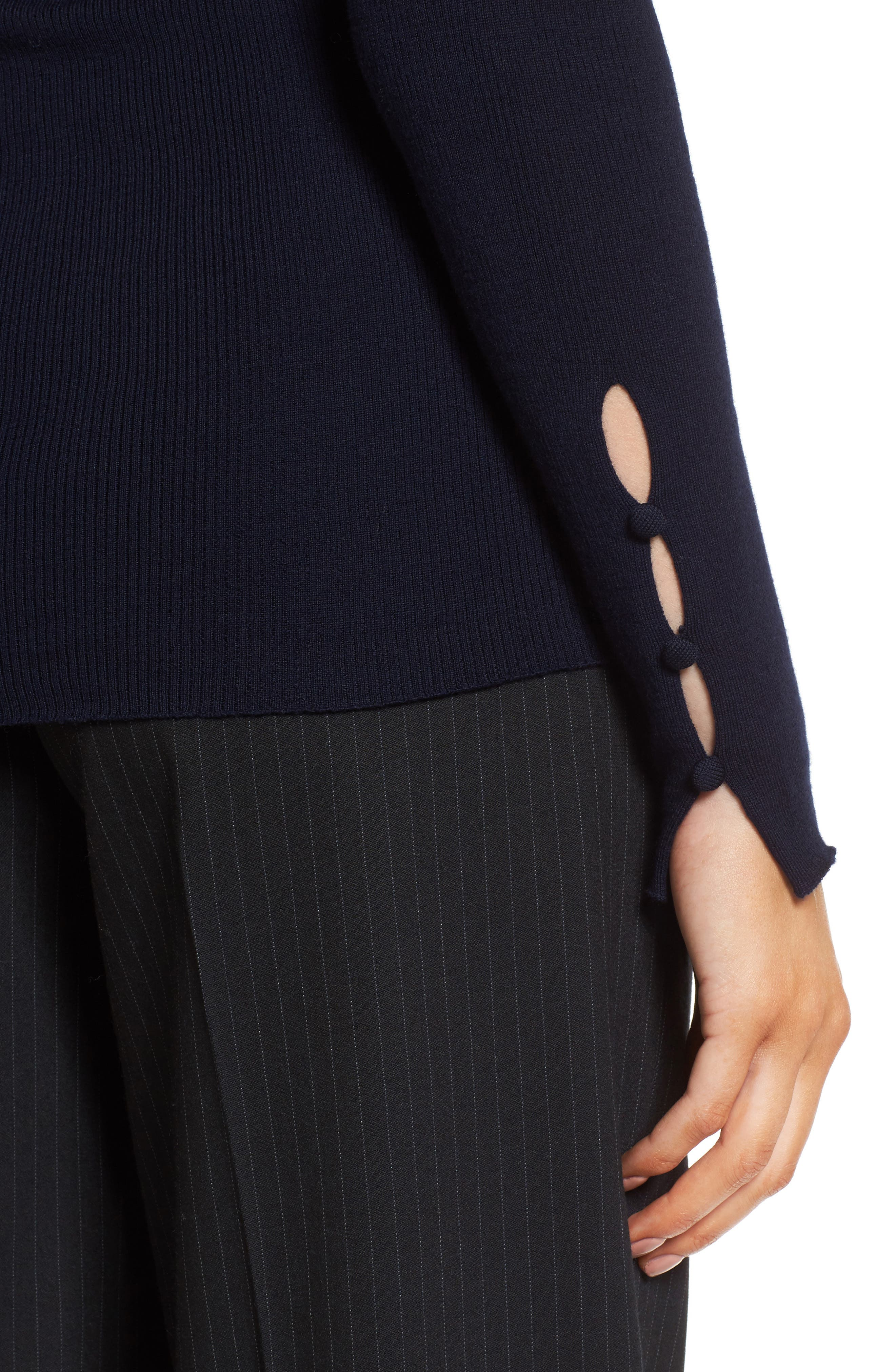 Italian Wool Envelope Back Pullover,                             Alternate thumbnail 4, color,                             410