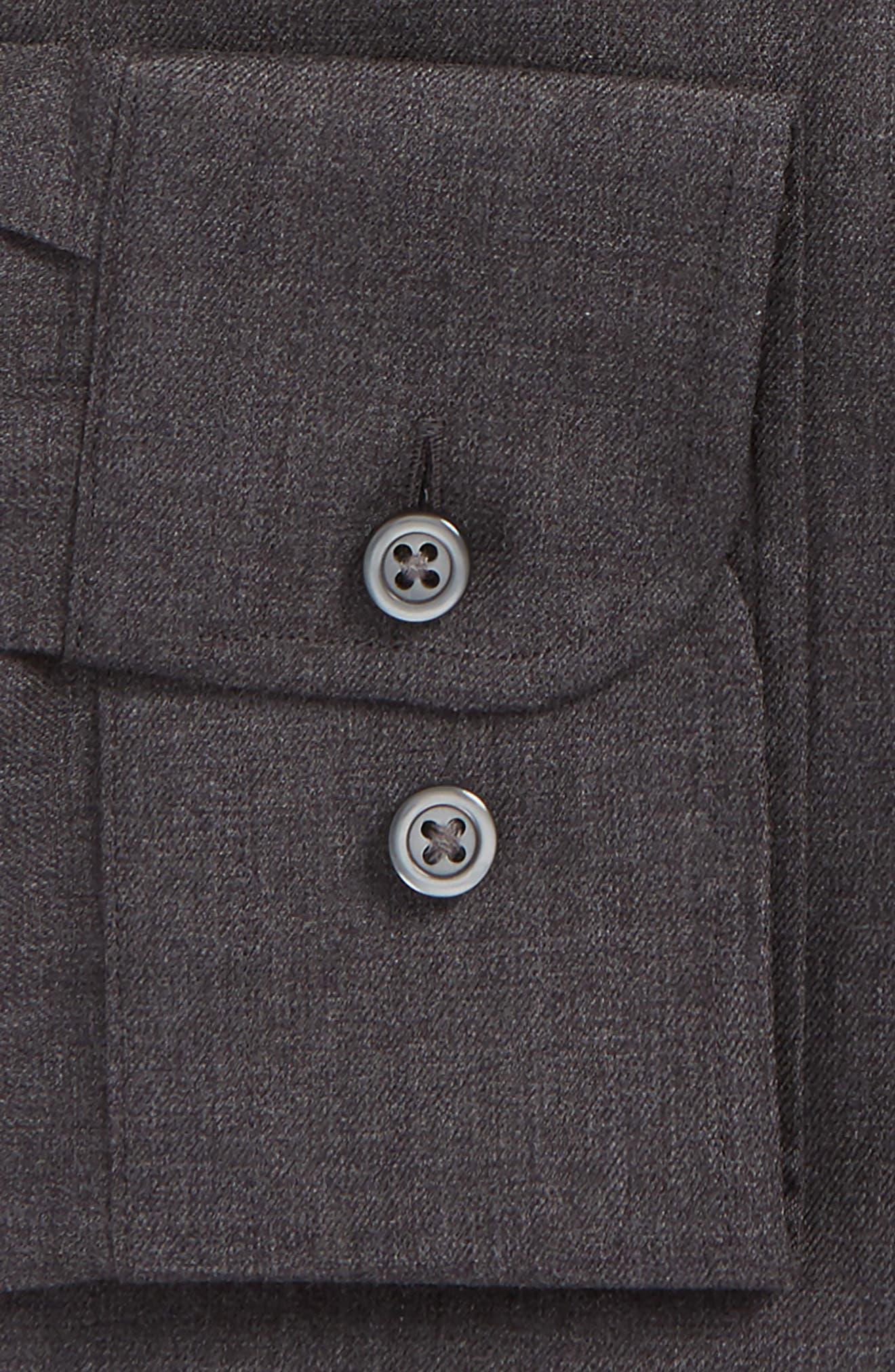 Trim Fit Solid Dress Shirt,                             Alternate thumbnail 3, color,