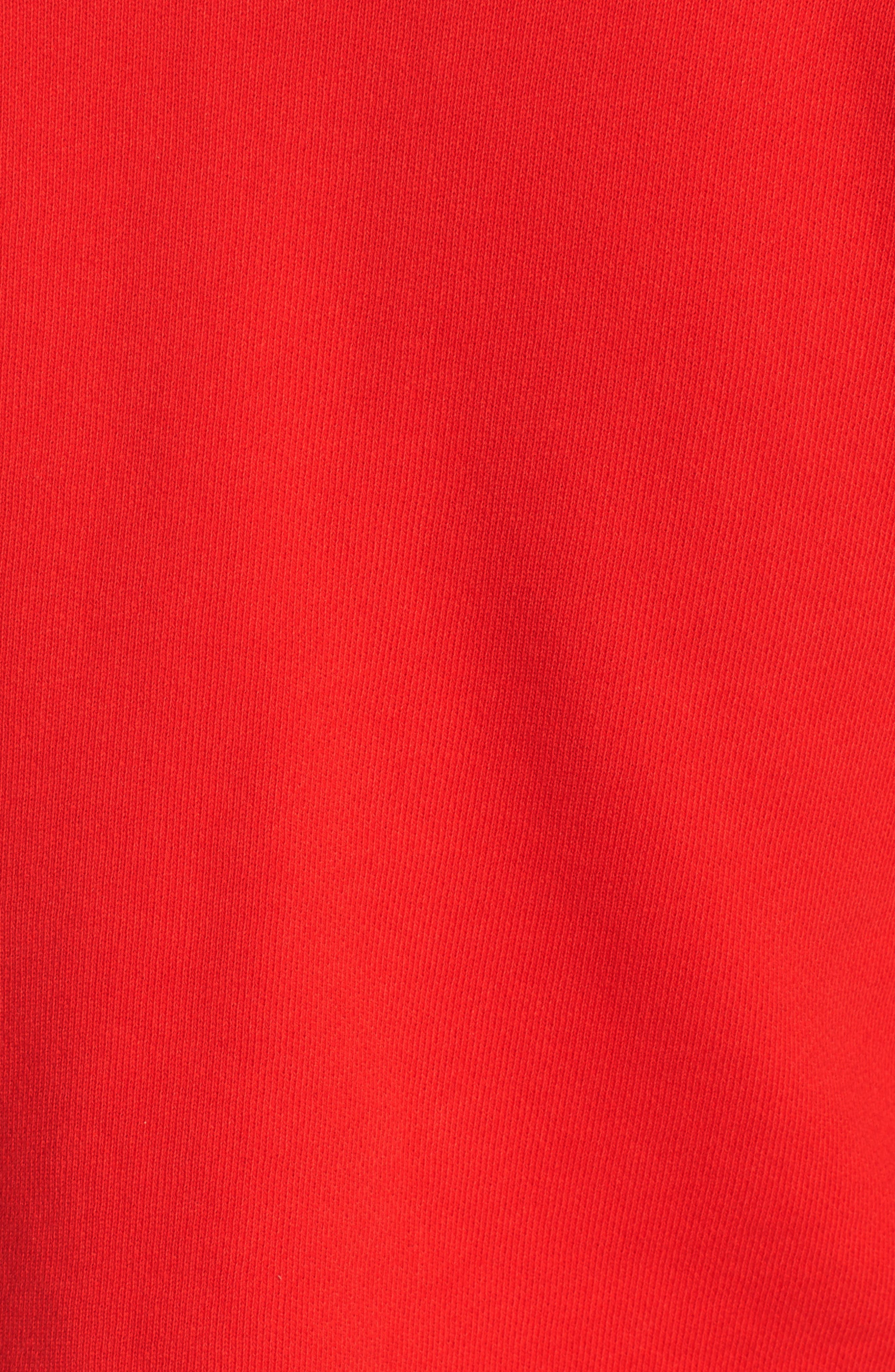 Flare Sleeve Crop Sweatshirt,                             Alternate thumbnail 5, color,