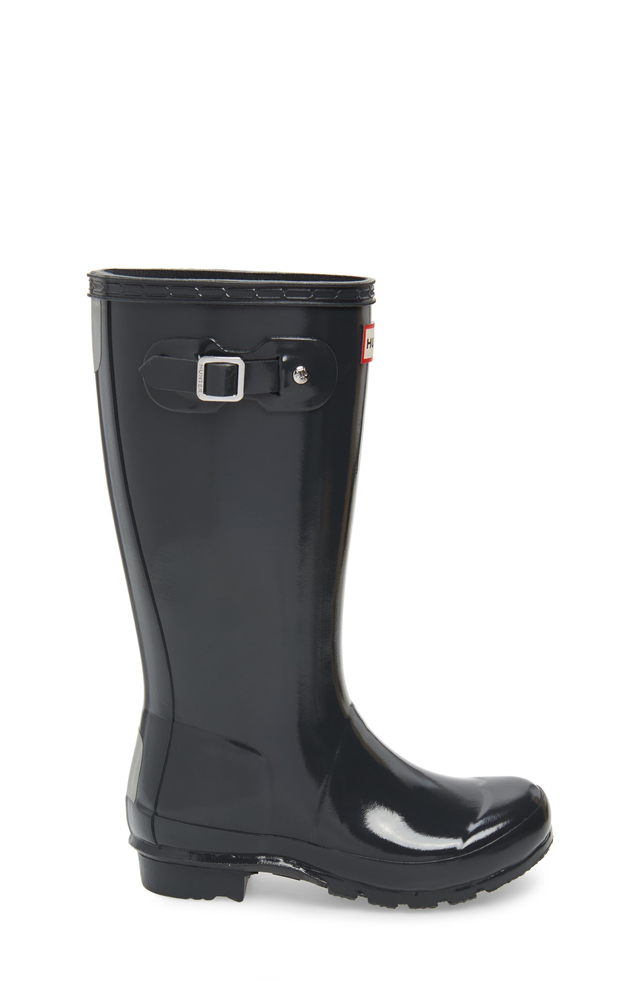 'Original Gloss' Rain Boot,                             Alternate thumbnail 3, color,                             DARK SLATE