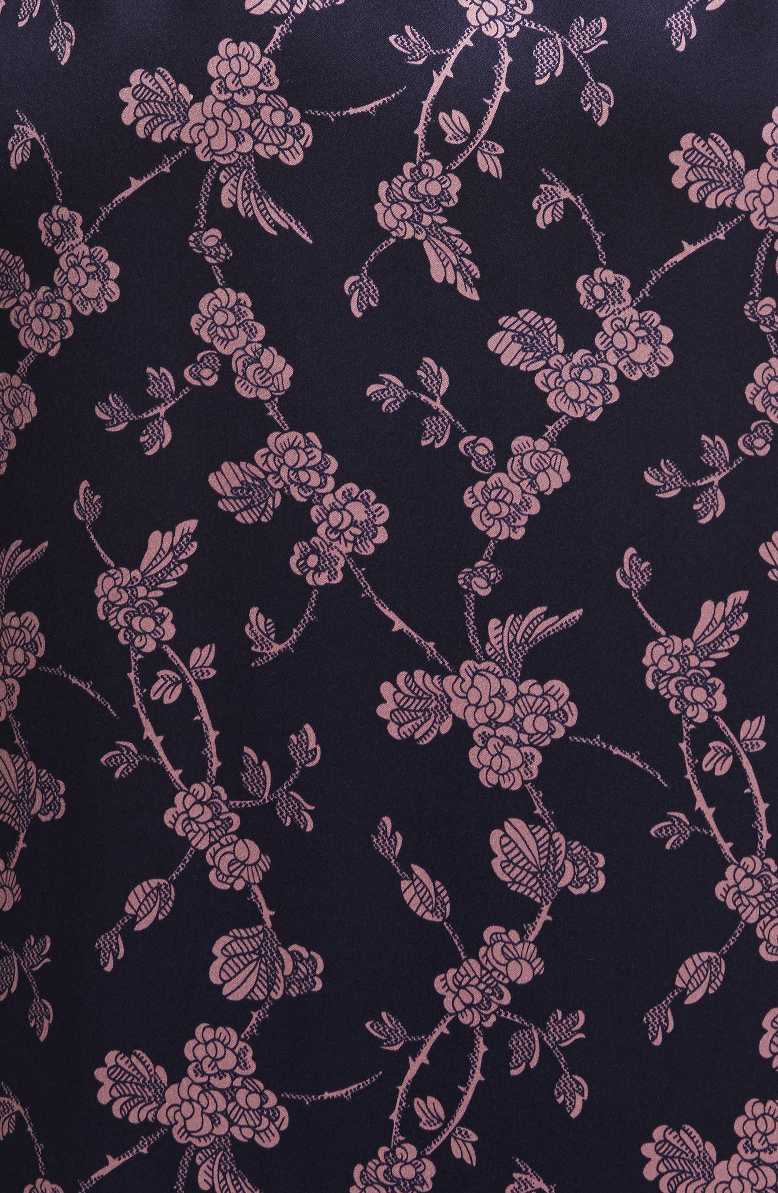 Nanon Knotted Silk Dress,                             Alternate thumbnail 5, color,                             699