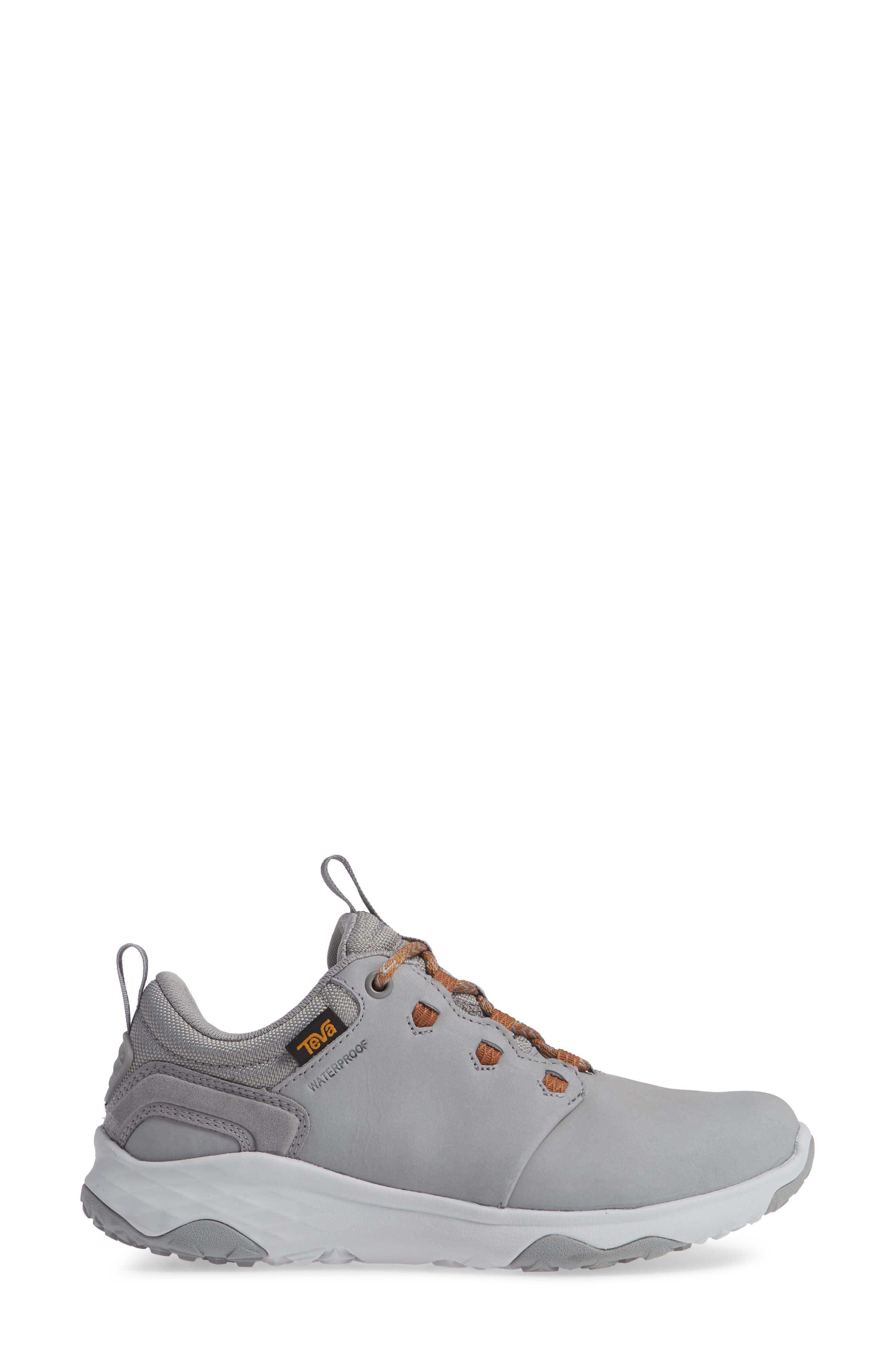 'Arrowood' Waterproof Sneaker,                             Alternate thumbnail 3, color,                             WILD DOVE LEATHER