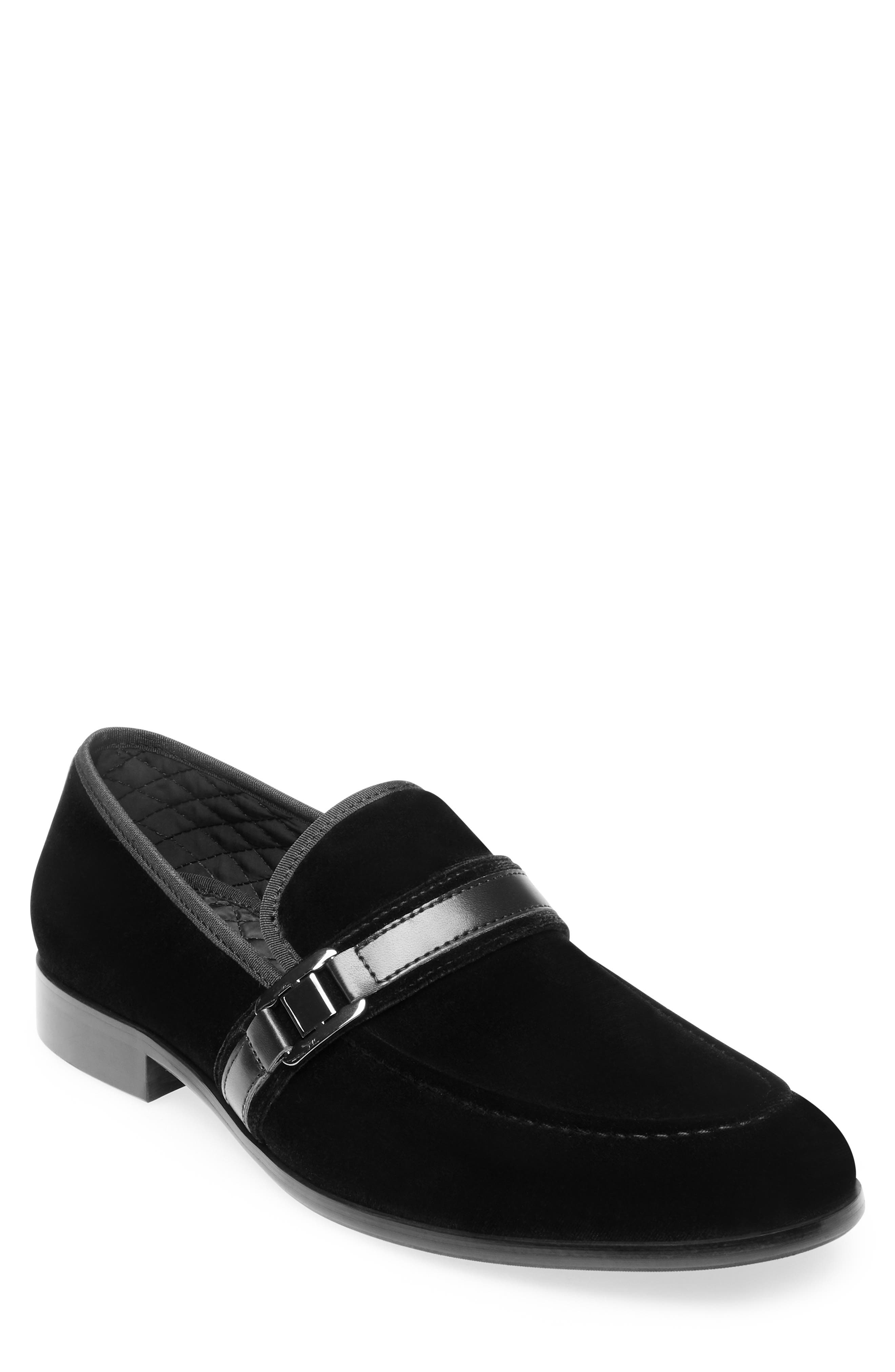 Macklin Bit Loafer,                         Main,                         color, BLACK FABRIC