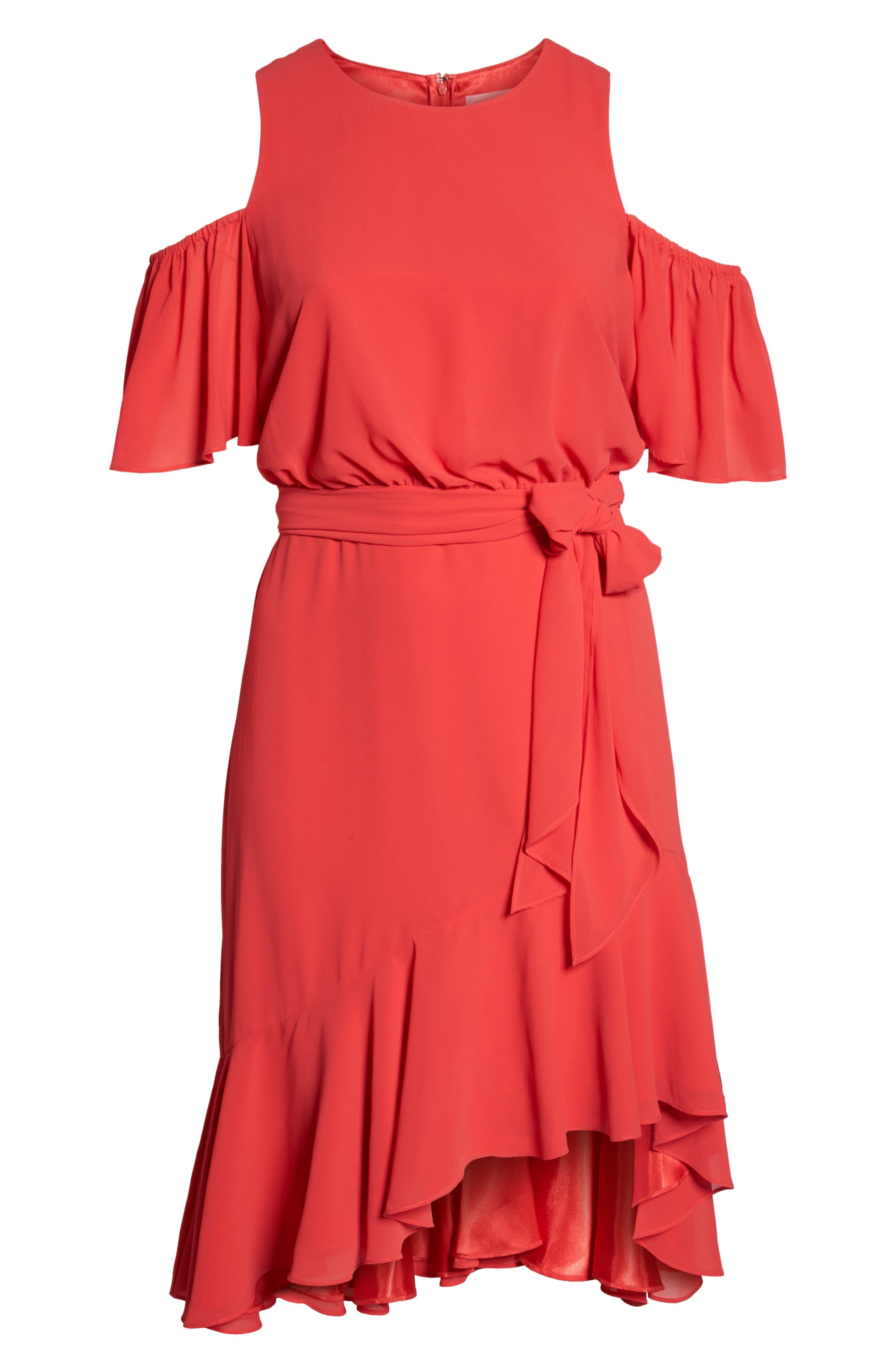 Cold Shoulder Midi Dress,                             Alternate thumbnail 6, color,                             650