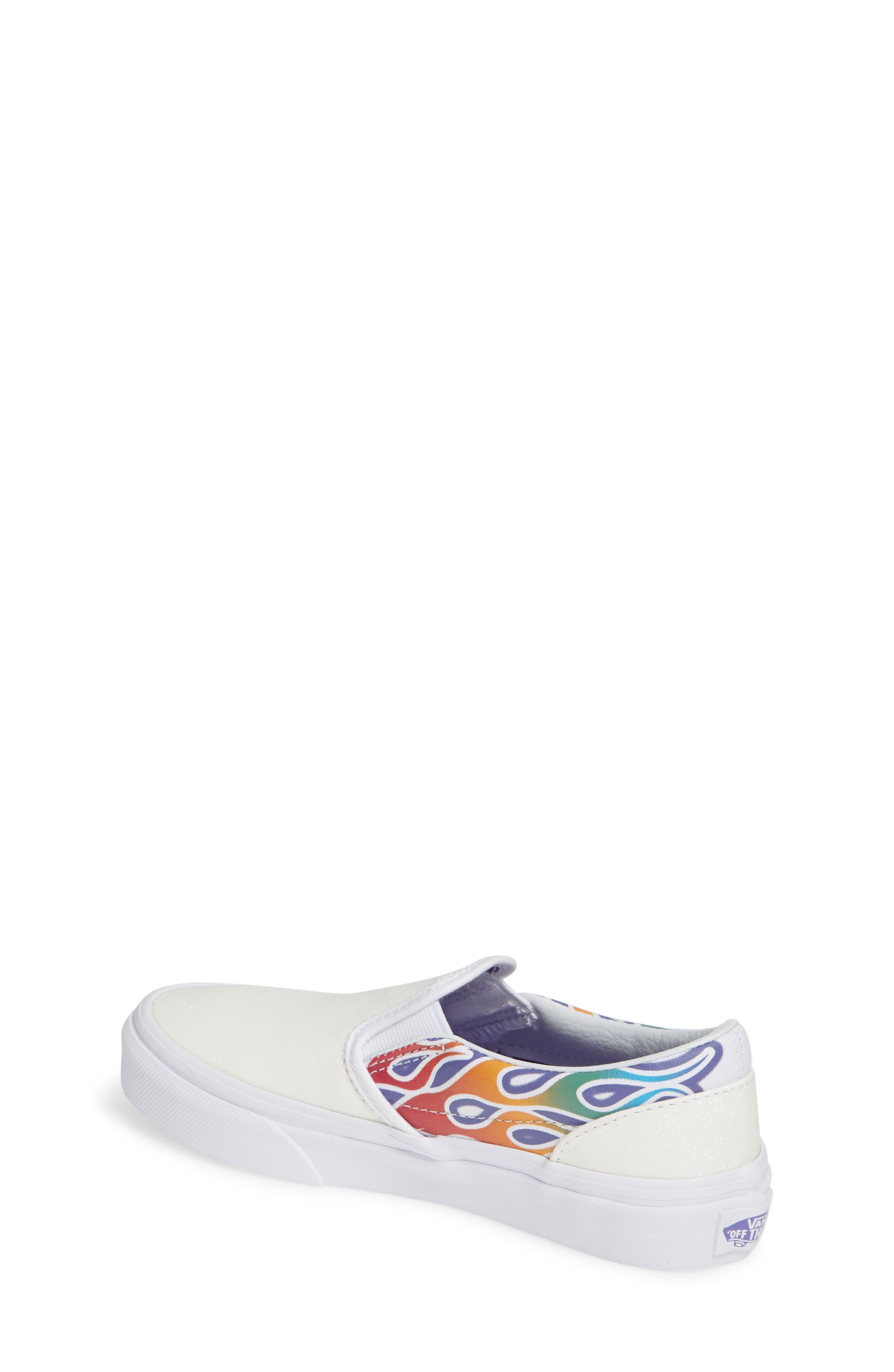 VANS,                             Classic Slip-On Glitter Sneaker,                             Alternate thumbnail 2, color,                             110
