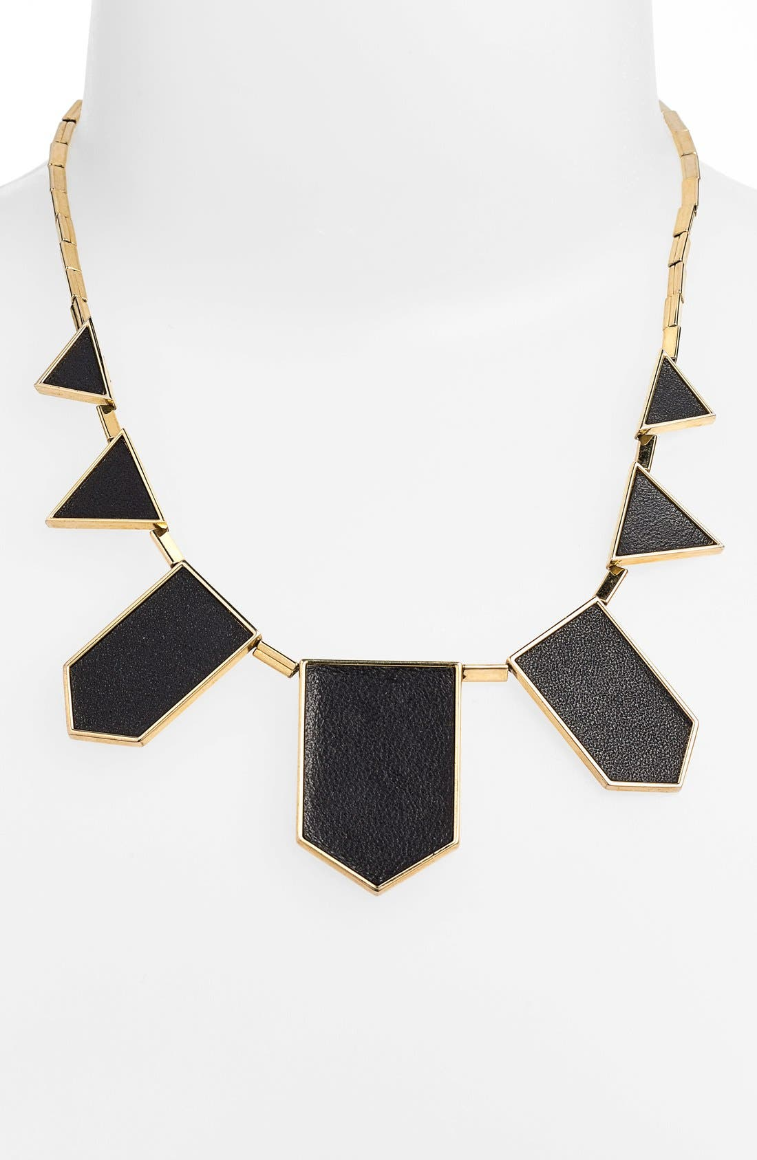 Leather Station Necklace,                             Main thumbnail 16, color,