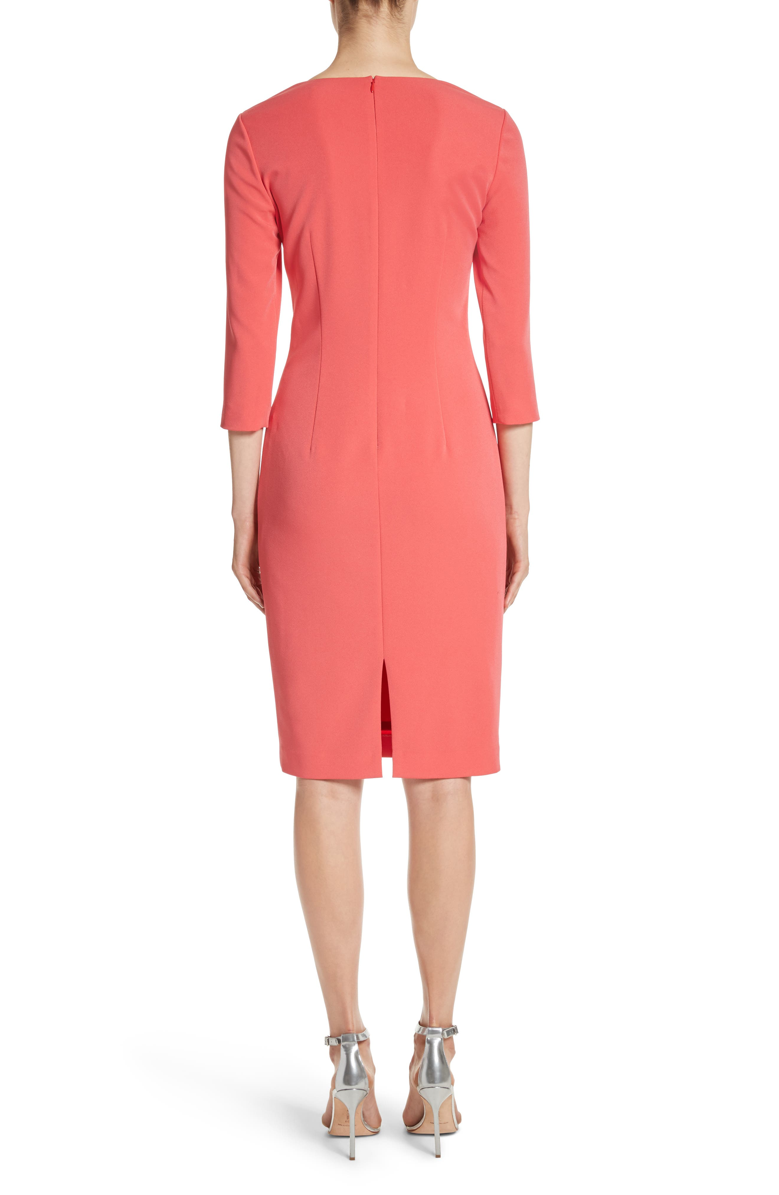 Stretch Crepe Dress,                             Alternate thumbnail 2, color,                             660