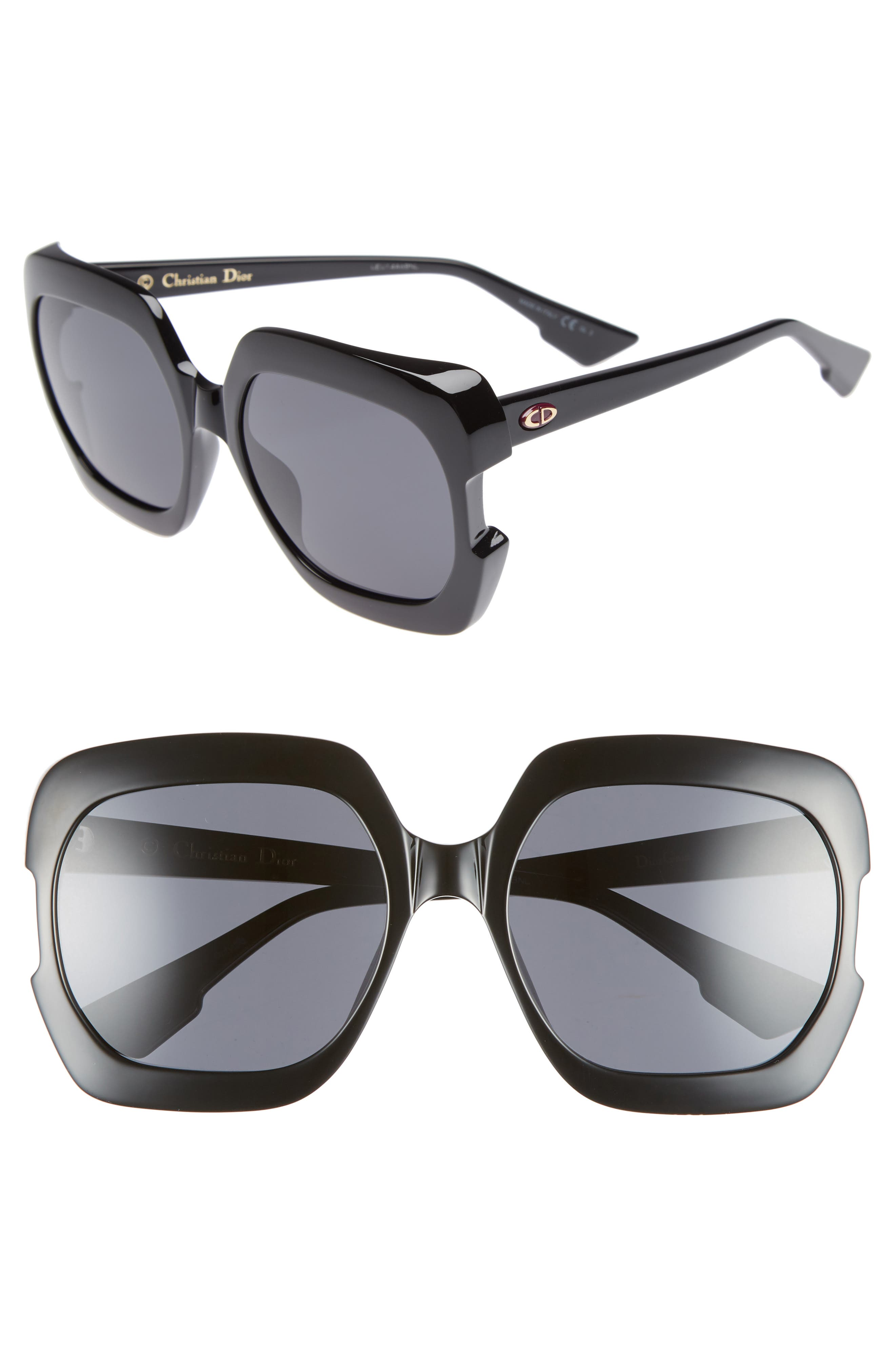 Gaia 58mm Square Sunglasses,                             Main thumbnail 1, color,                             001