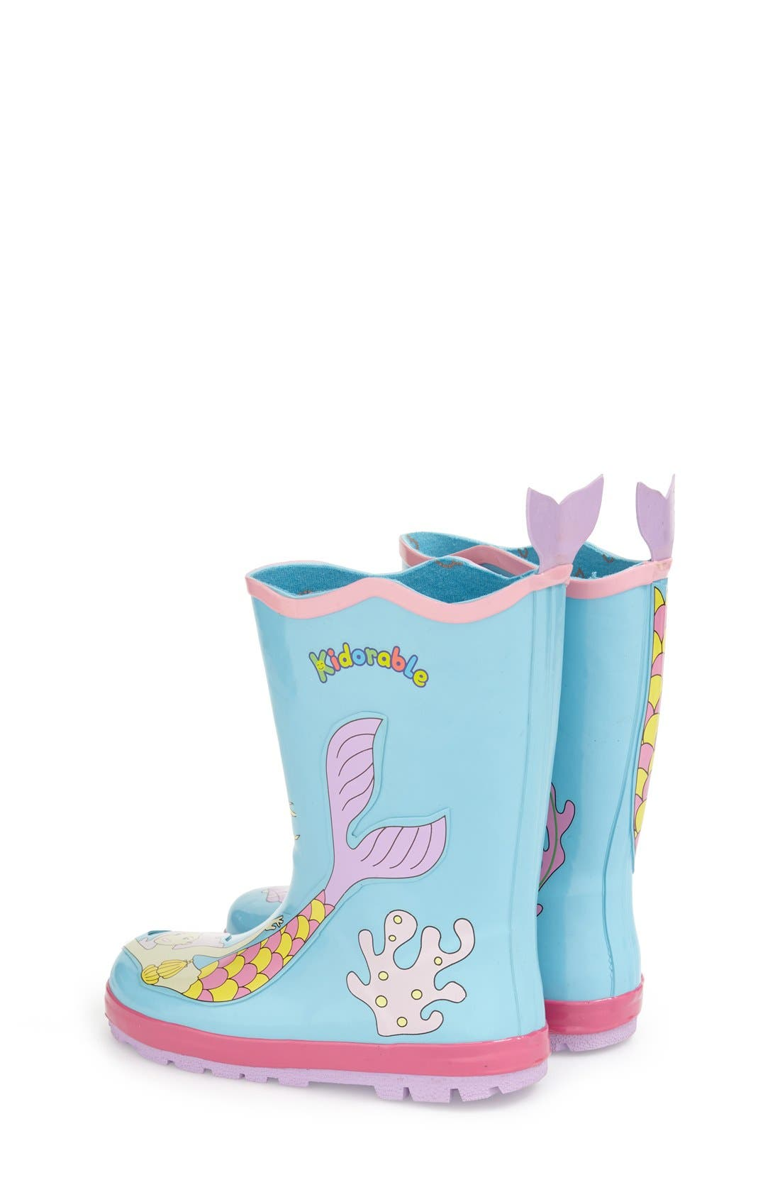 'Mermaid' Waterproof Rain Boot,                             Alternate thumbnail 2, color,                             400