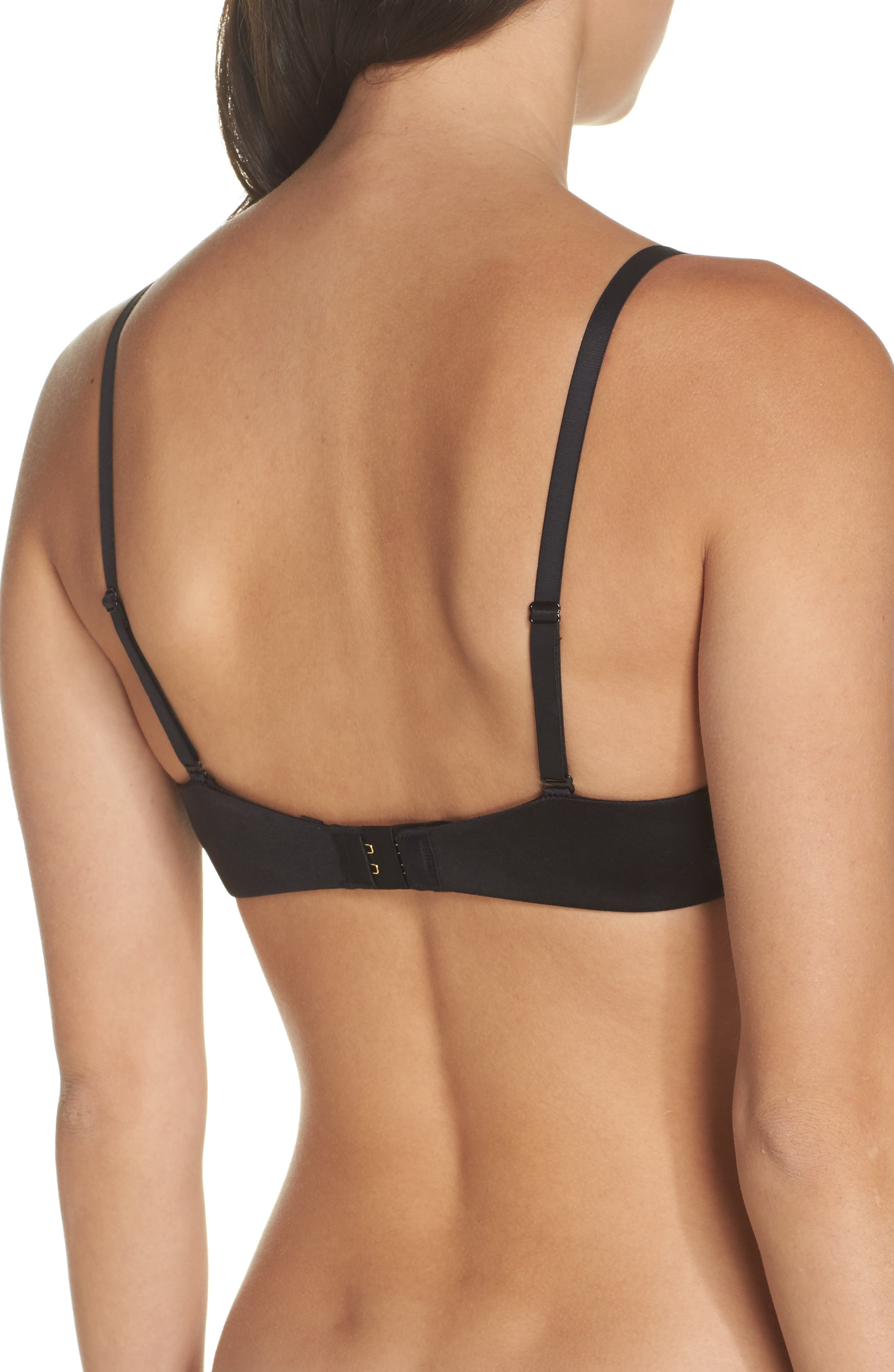 Push-Up Plunge Underwire Bra,                             Alternate thumbnail 2, color,                             001