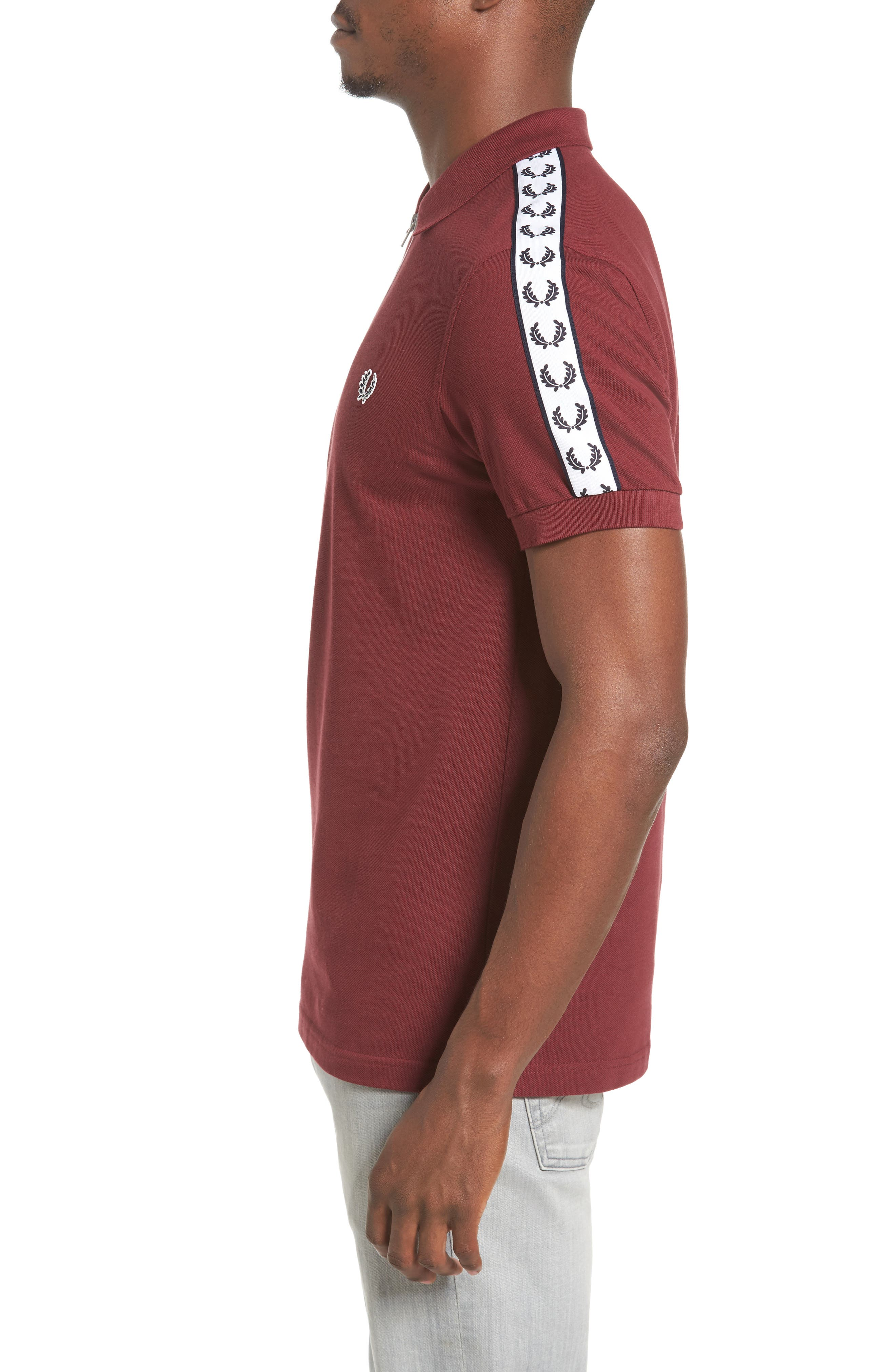 Taped Zip Polo,                             Alternate thumbnail 3, color,                             572