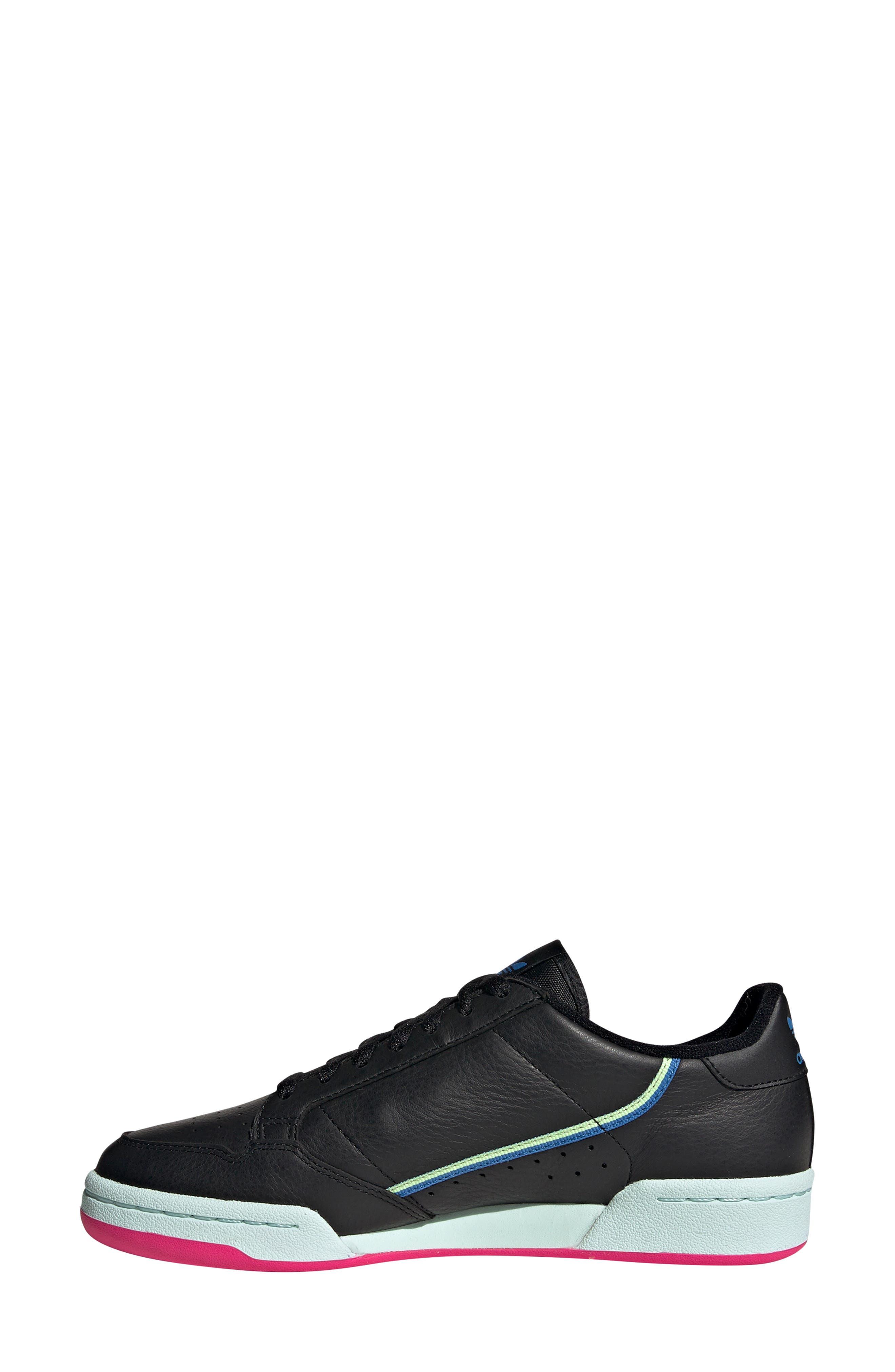 ADIDAS,                             Continental 80 Sneaker,                             Alternate thumbnail 7, color,                             BLACK/ HI-RES YELLOW/ BLUE