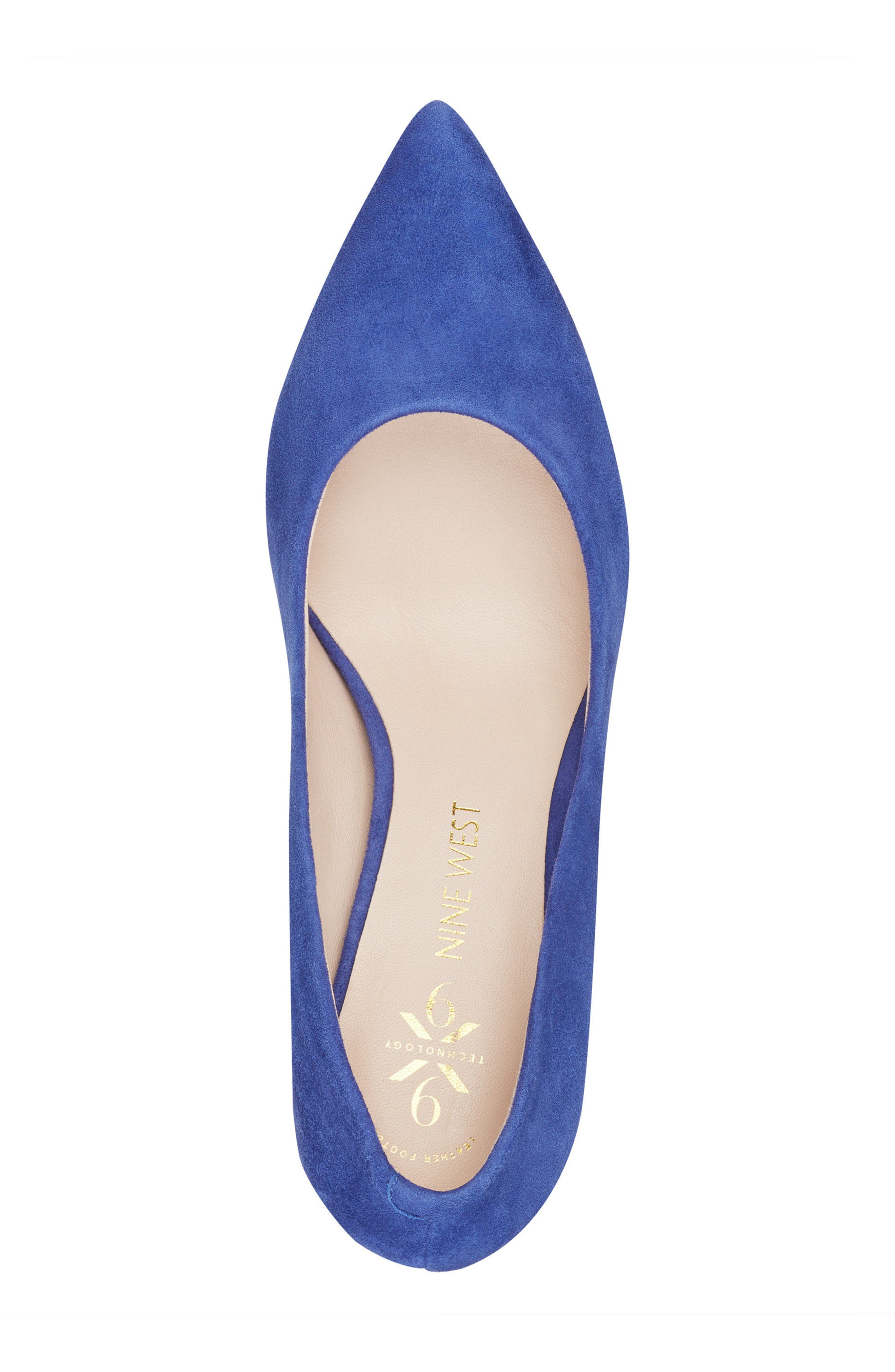 Astoria Pump,                             Alternate thumbnail 5, color,                             DARK BLUE SUEDE