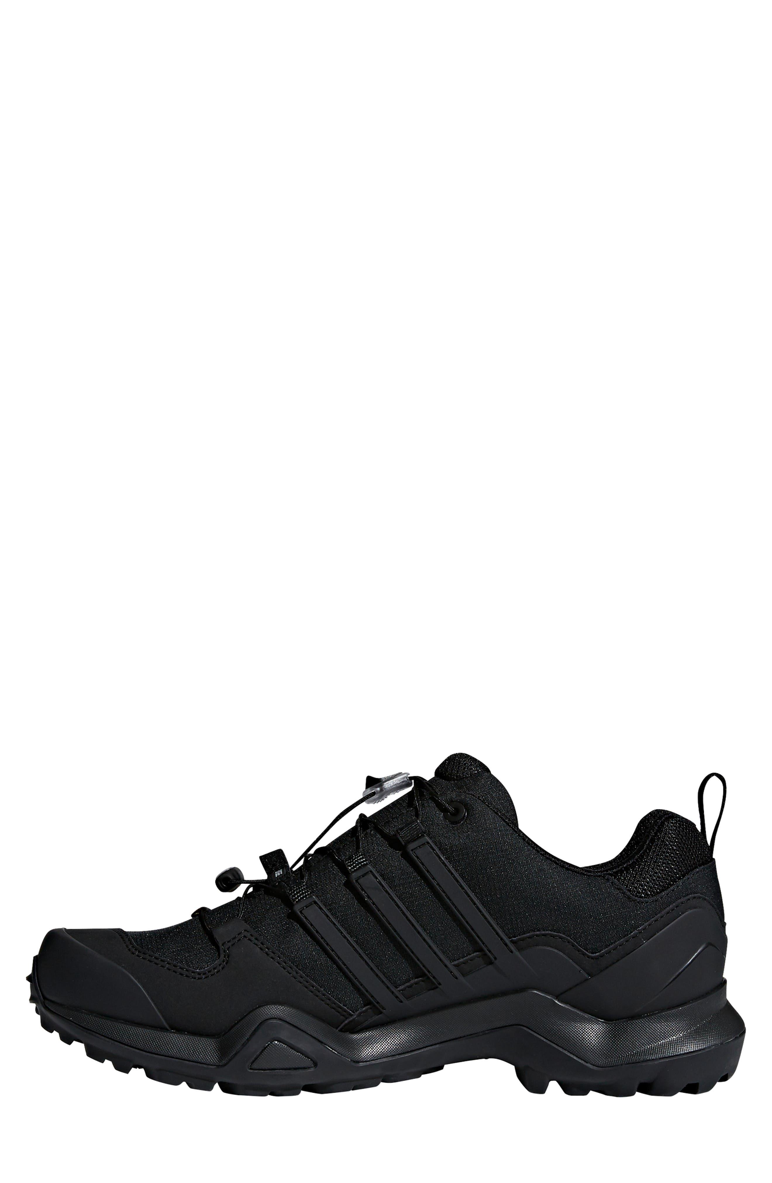 ADIDAS,                             Terrex Swift R2 GTX Gore-Tex<sup>®</sup> Waterproof Hiking Shoe,                             Alternate thumbnail 7, color,                             BLACK/ BLACK/ BLACK