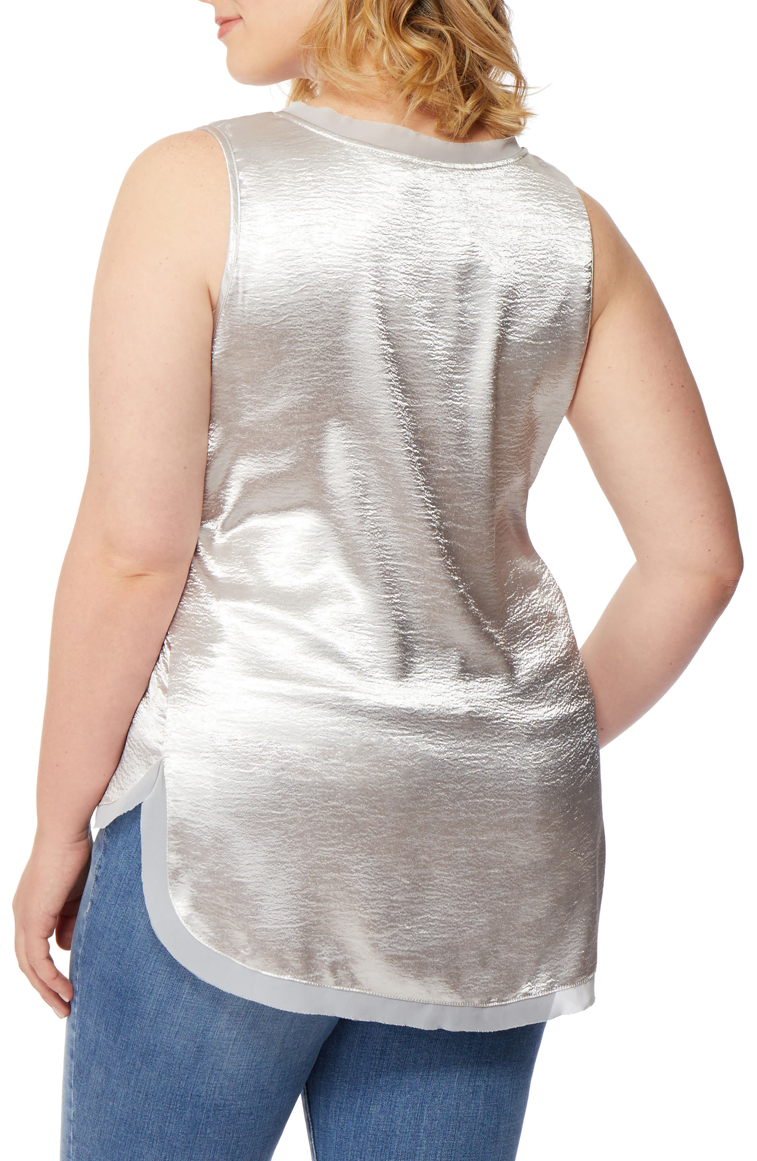 Hammered Satin Tank,                             Alternate thumbnail 3, color,