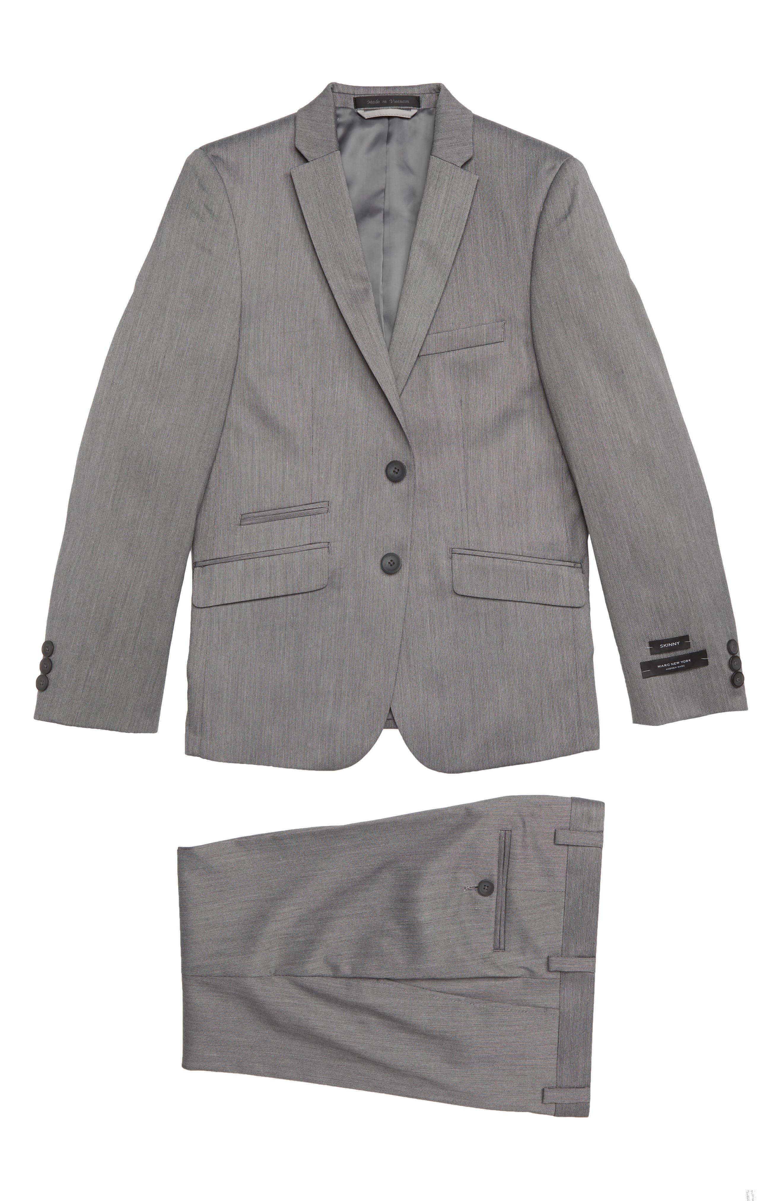 Two-Piece Suit,                         Main,                         color, GREY