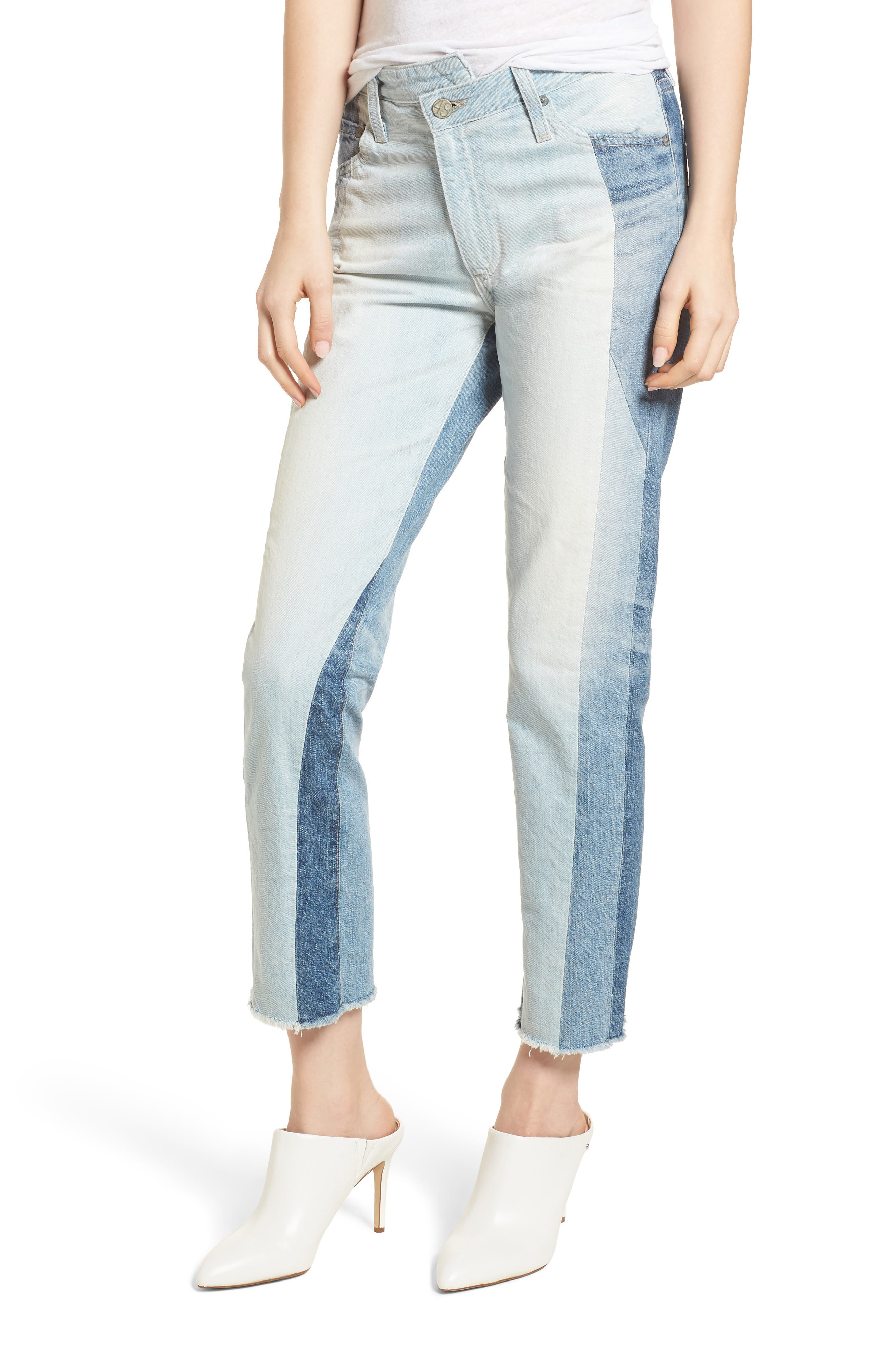 The Isabelle High Waist Crop Straight Leg Jeans,                             Main thumbnail 1, color,                             425