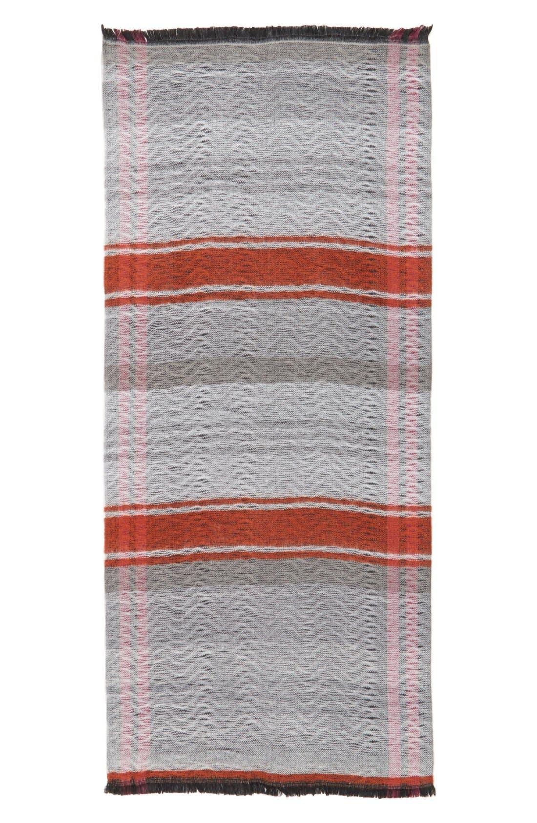 Reversible Blanket Scarf,                             Alternate thumbnail 3, color,                             001
