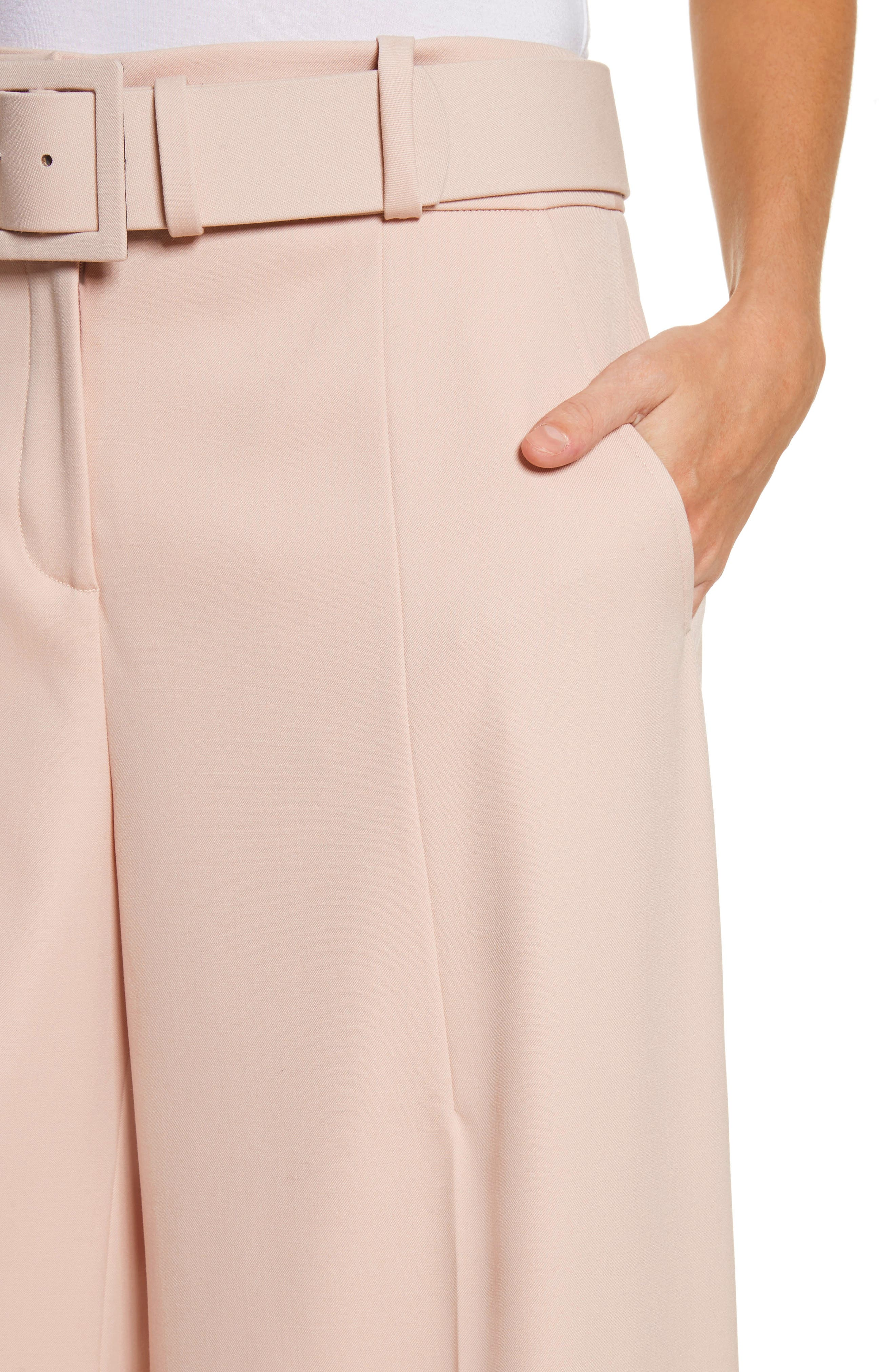 Stretch Wool Gabardine Culottes,                             Alternate thumbnail 4, color,                             690
