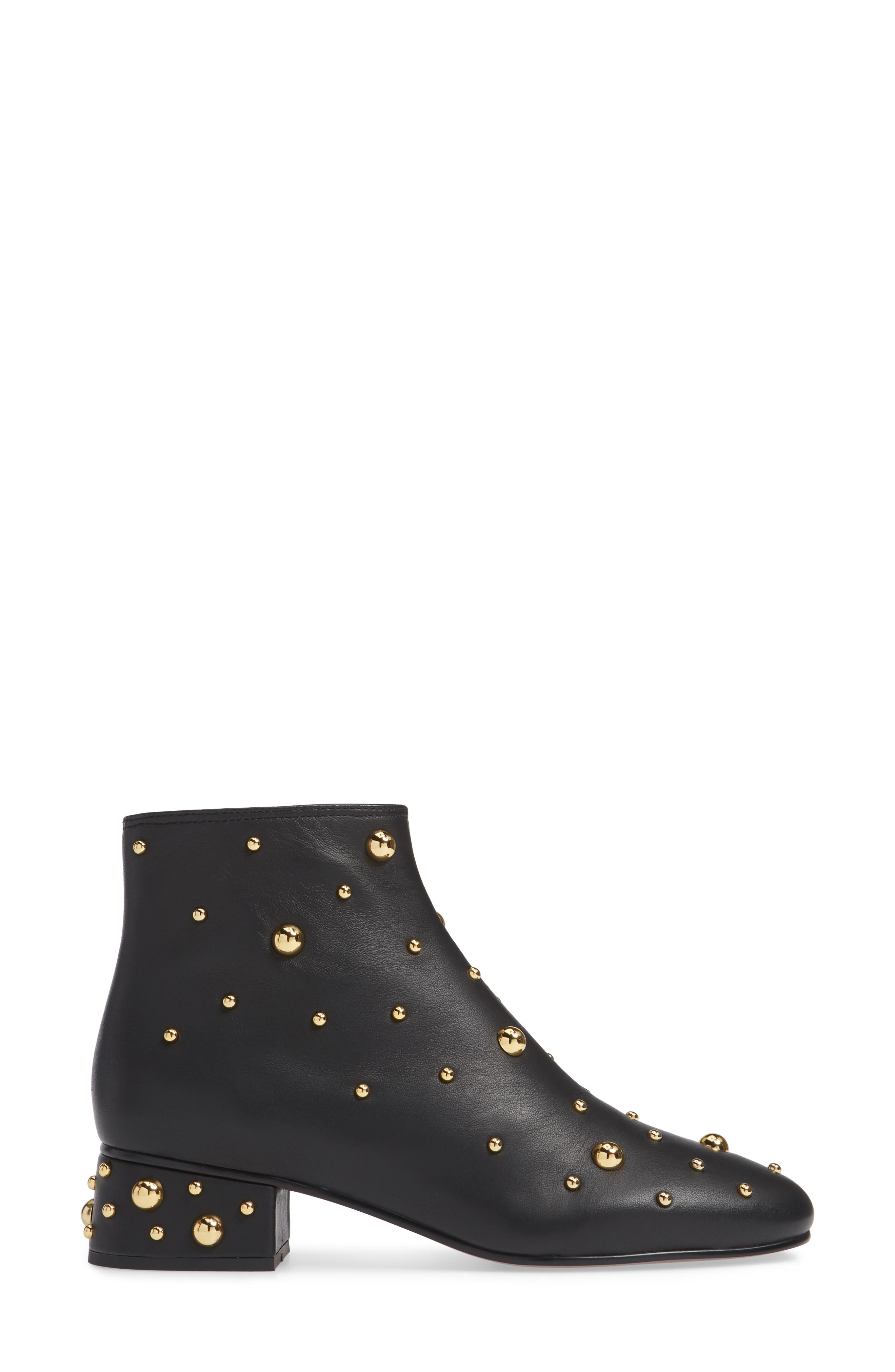 SEE BY CHLOÉ,                             Abby Studded Bootie,                             Alternate thumbnail 3, color,                             001