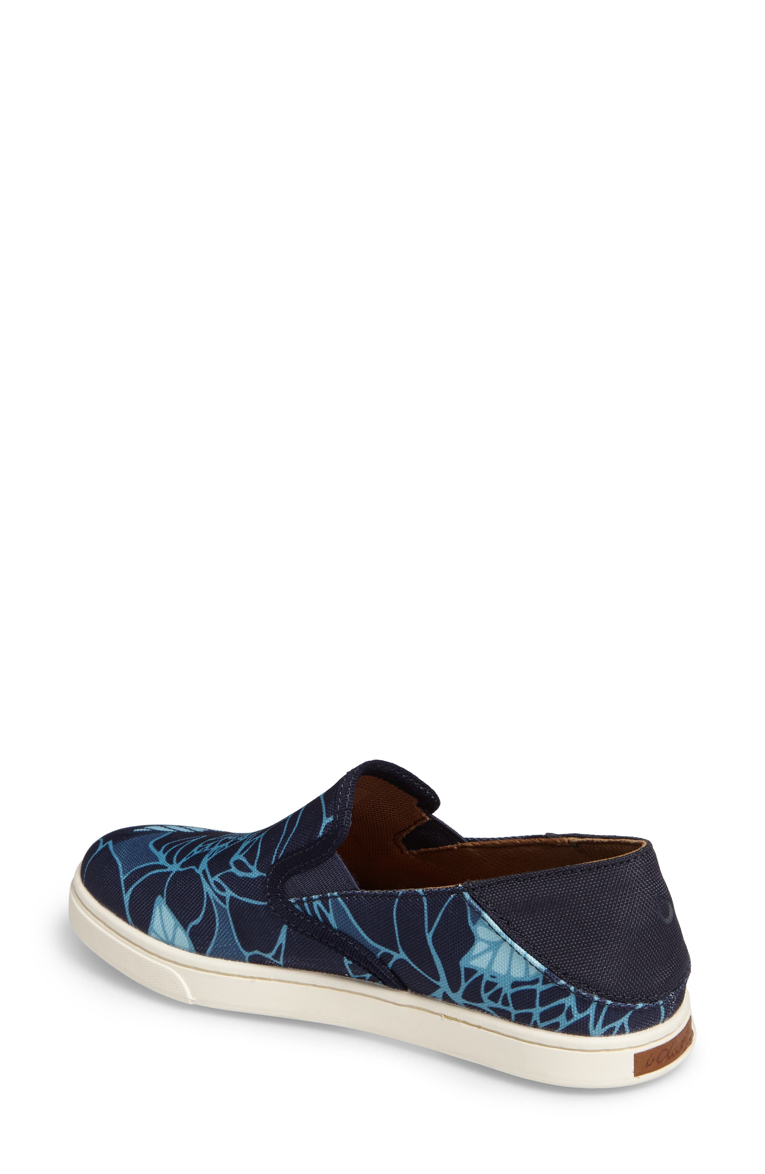 Pehuea Print Slip-On Sneaker,                             Alternate thumbnail 2, color,                             TRENCH BLUE/ STORMY BLUE