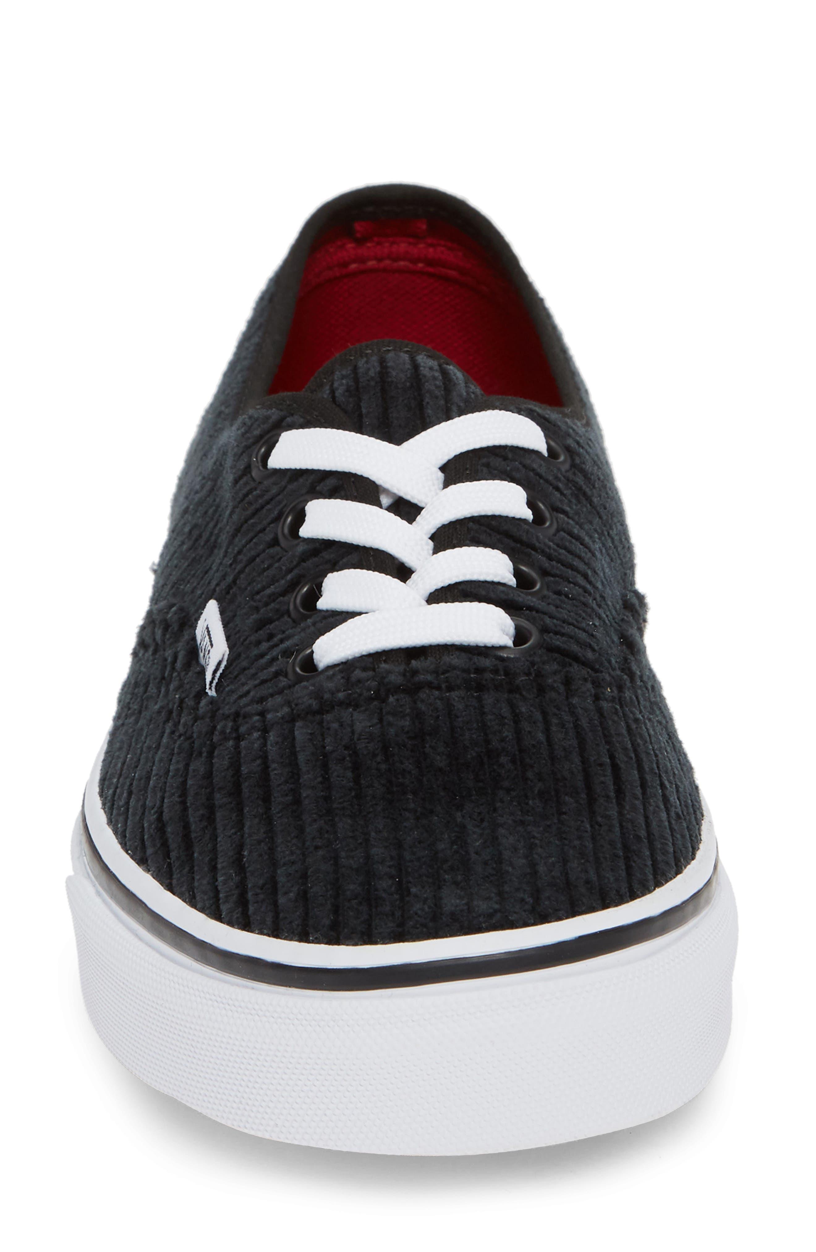 UA Authentic Design Assembly Sneaker,                             Alternate thumbnail 4, color,                             BLACK/ TRUE WHITE