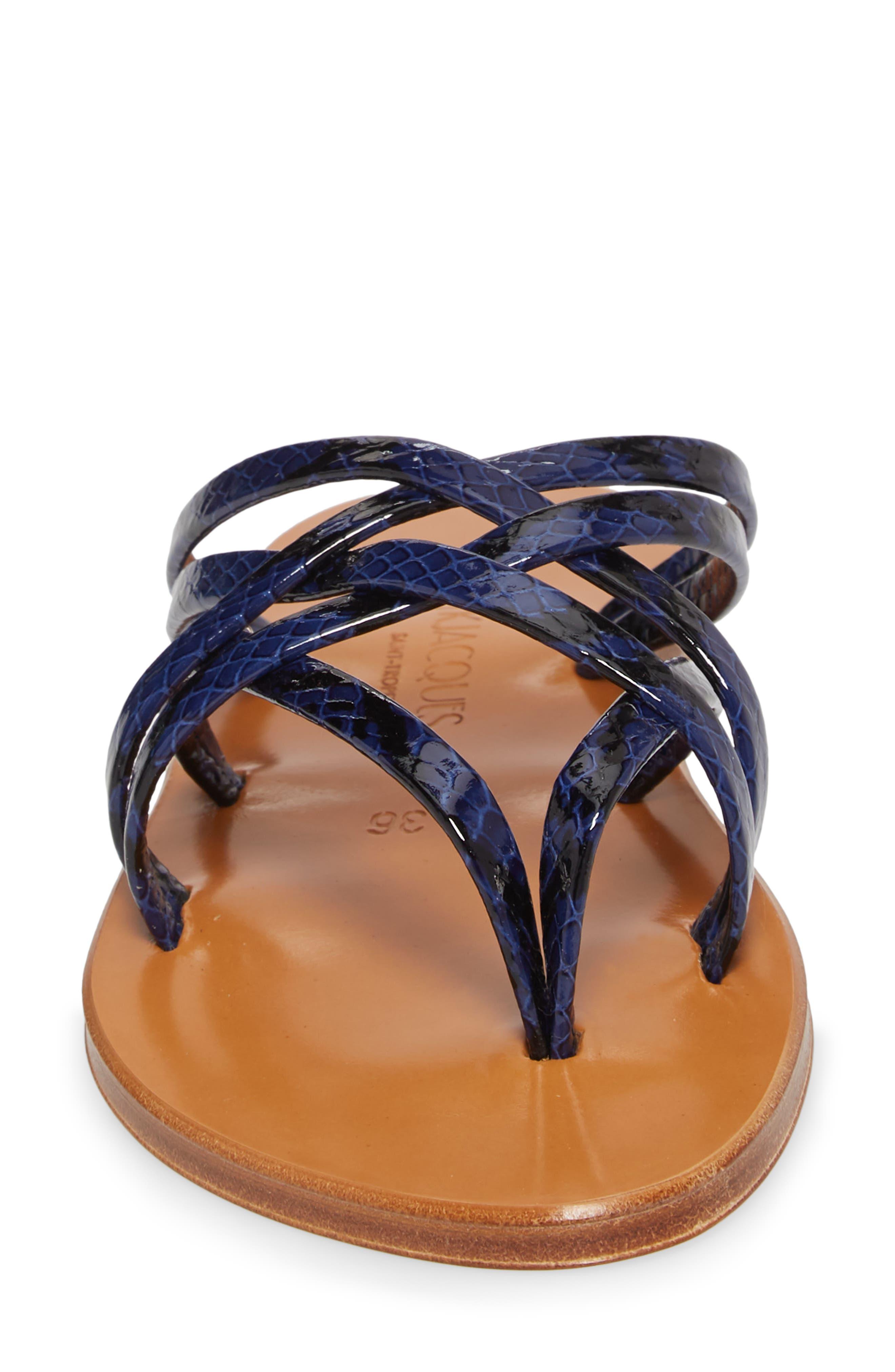 K. Jacques St. Tropez Strappy Thong Sandal,                             Alternate thumbnail 8, color,