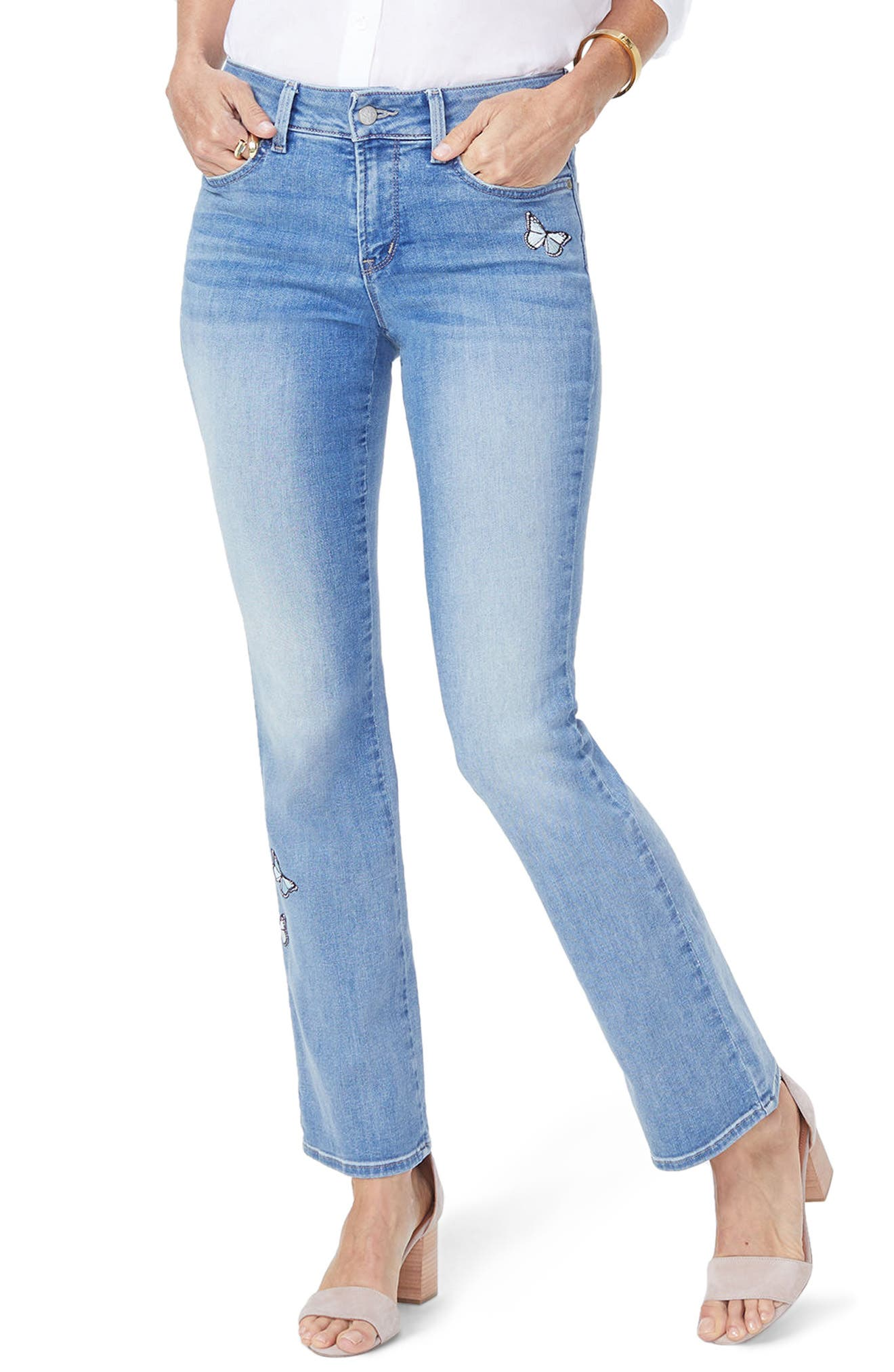 Barbara Butterfly Bootcut Jeans,                         Main,                         color, 418
