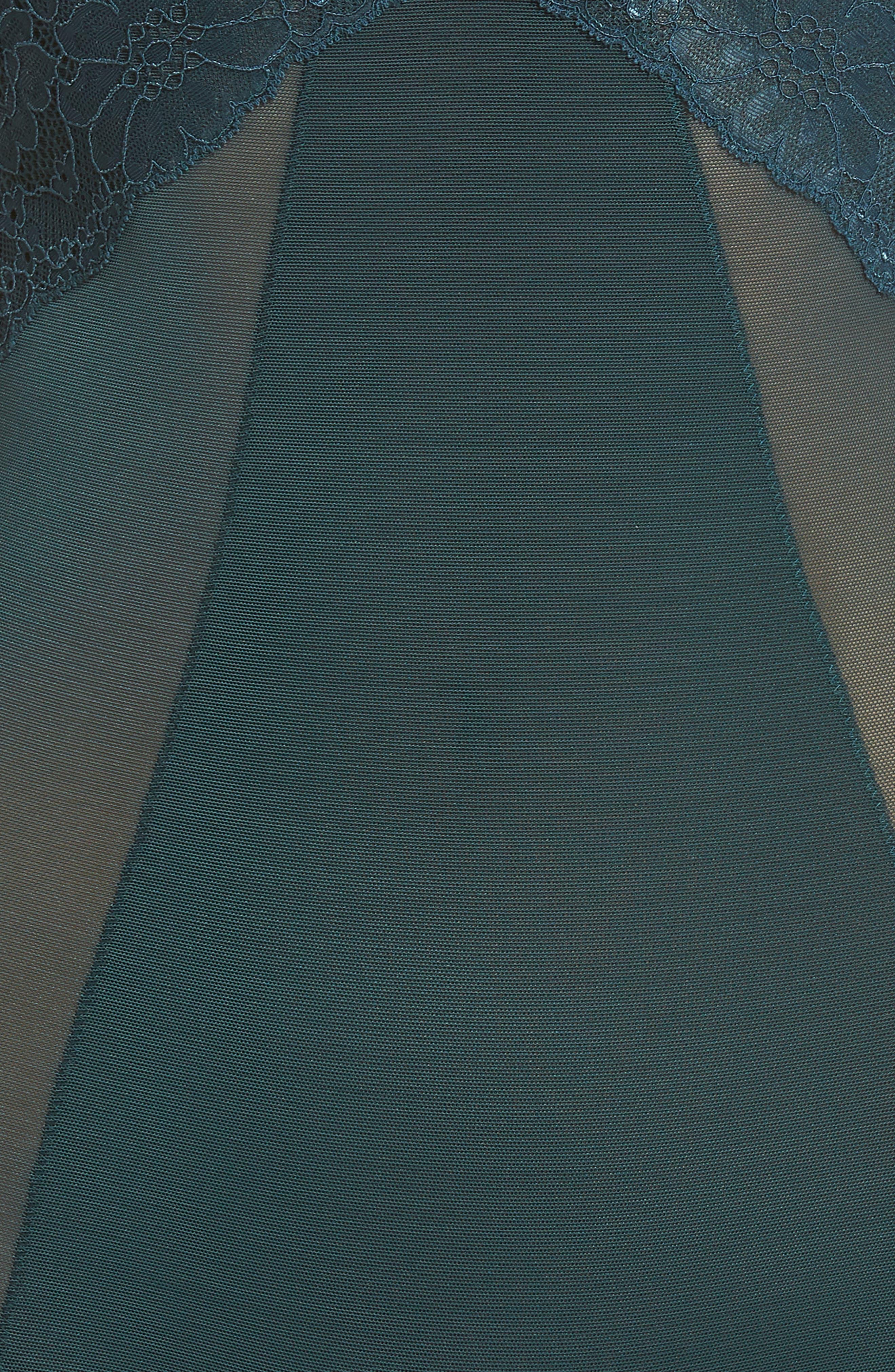 Spotlight On Lace Bodysuit,                             Alternate thumbnail 6, color,                             MALACHITE