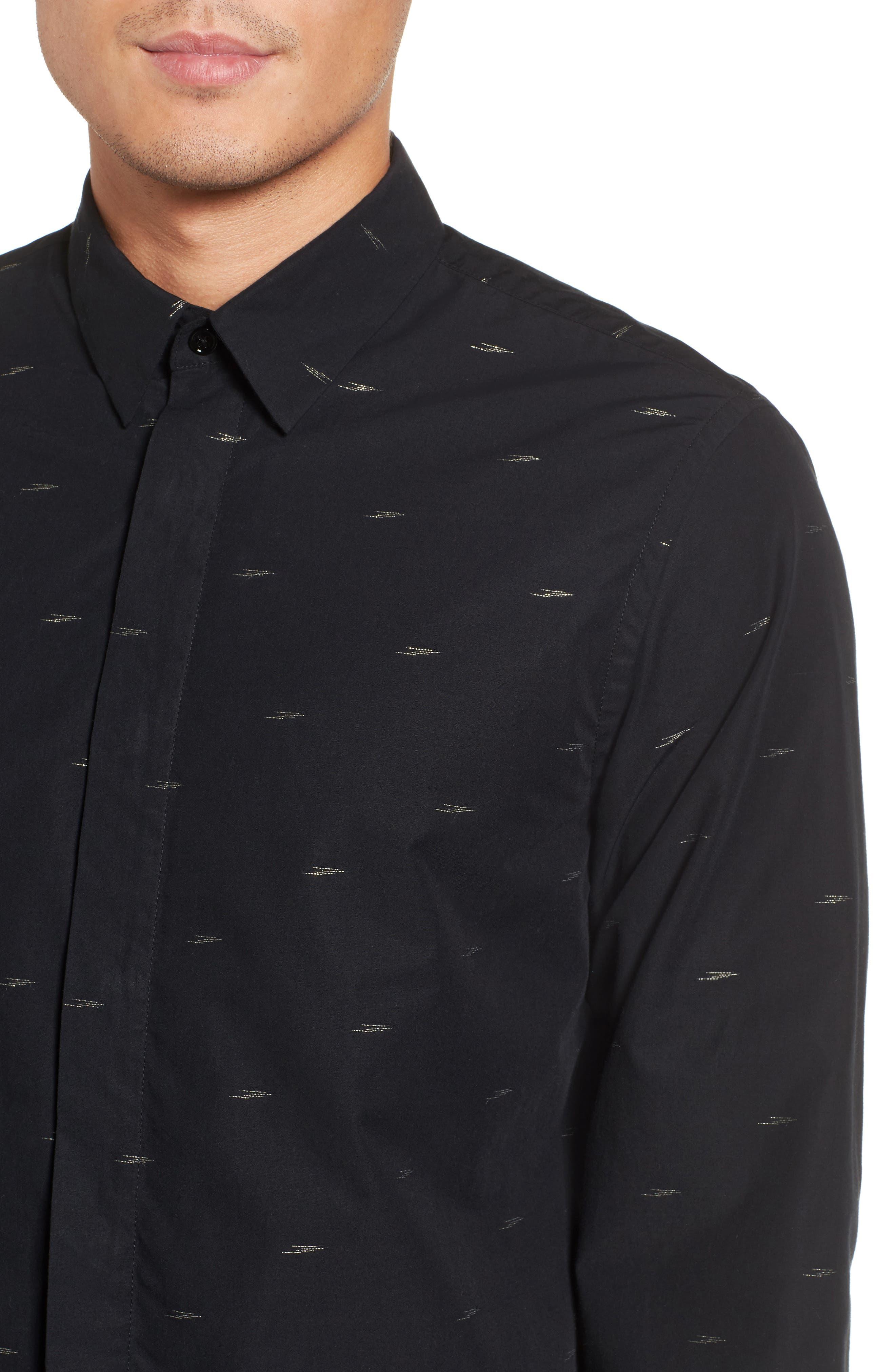 Levy Regular Fit Sport Shirt,                             Alternate thumbnail 4, color,                             001
