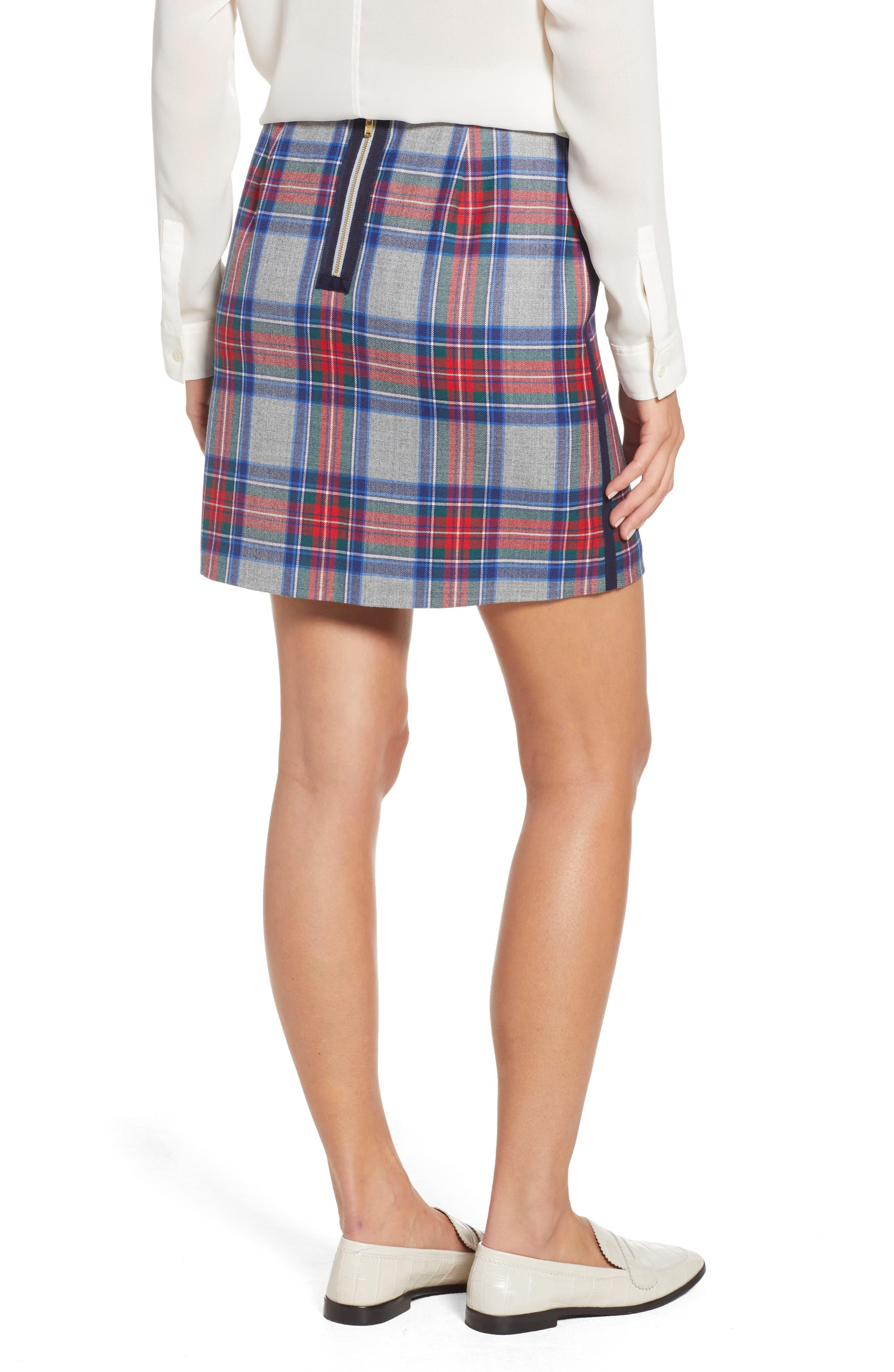 Jolly Plaid Miniskirt,                             Alternate thumbnail 2, color,                             GRAY HEATHER