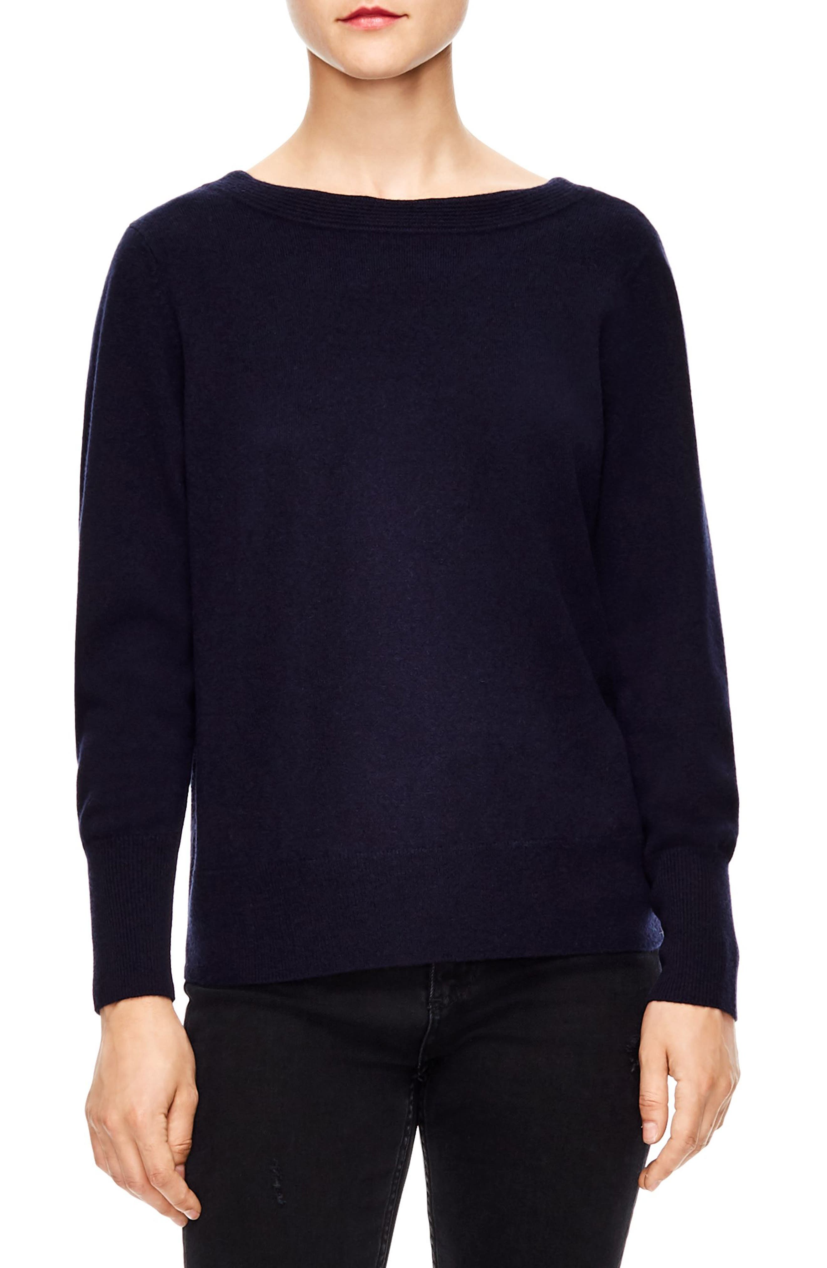 V-Back Sweater,                             Main thumbnail 1, color,                             DEEP NAVY