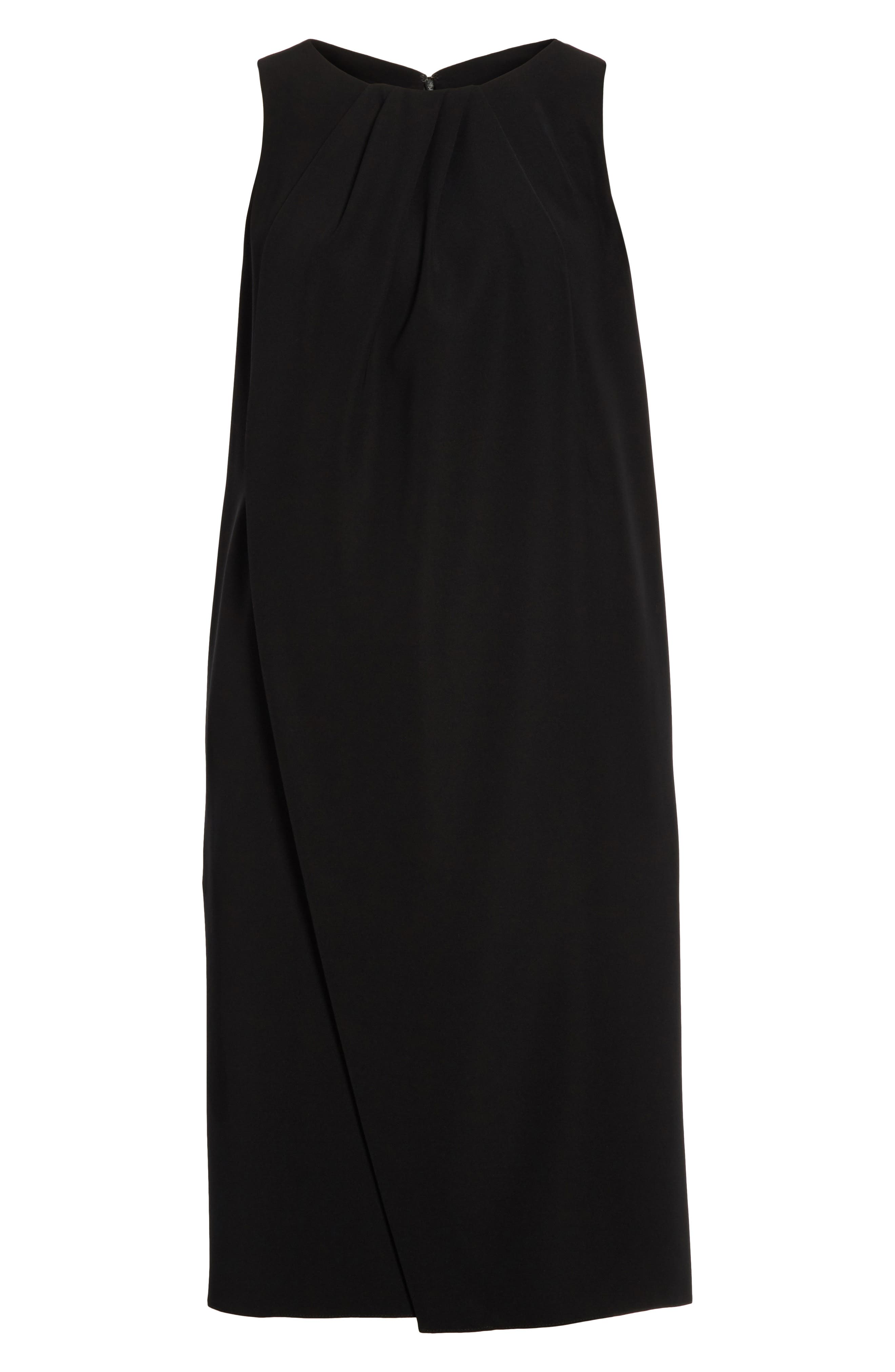 Draped Cady Shift Dress,                             Alternate thumbnail 6, color,                             004