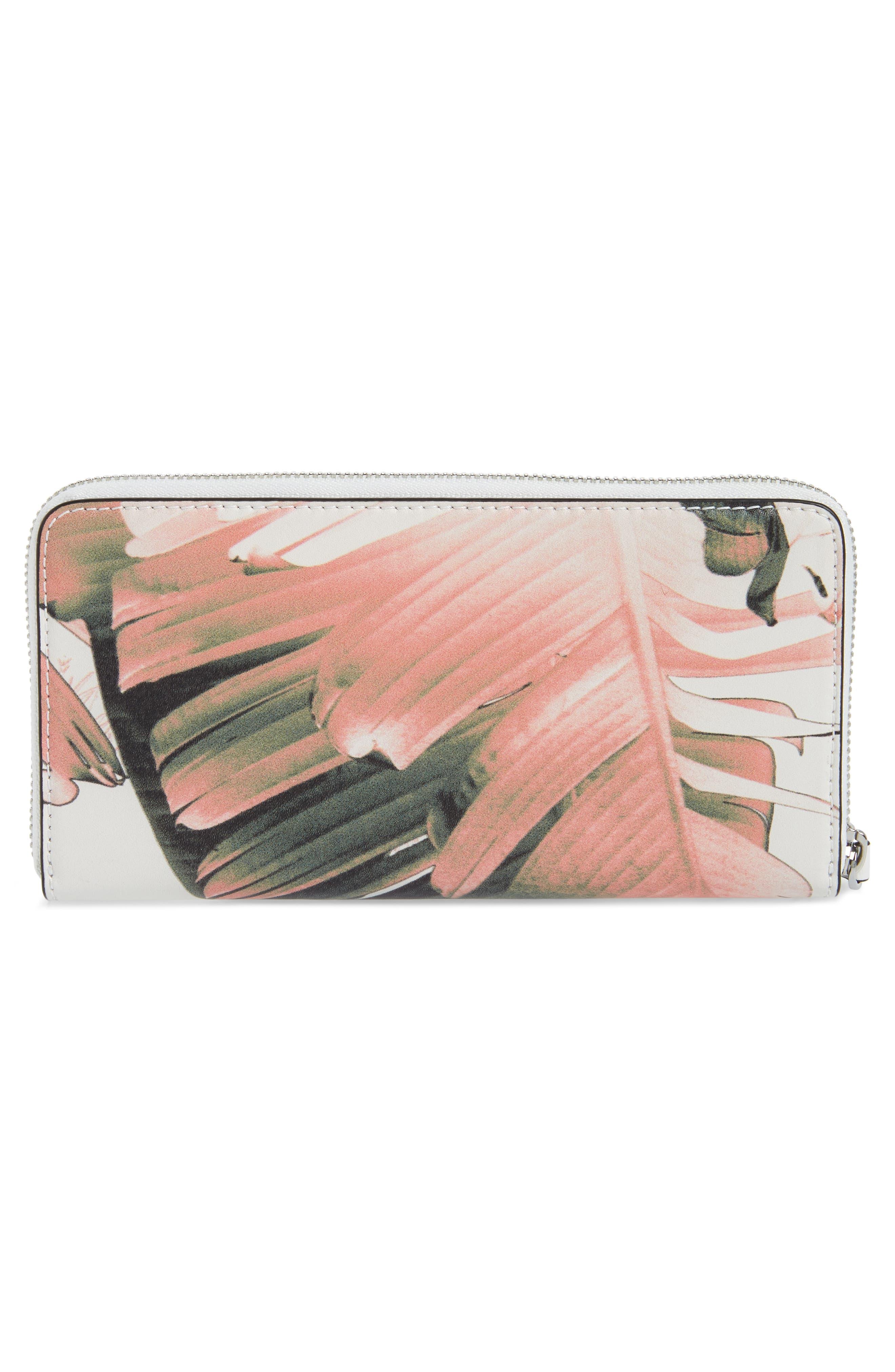 Duke Zip Around Leather Wallet,                             Alternate thumbnail 3, color,                             LEAF