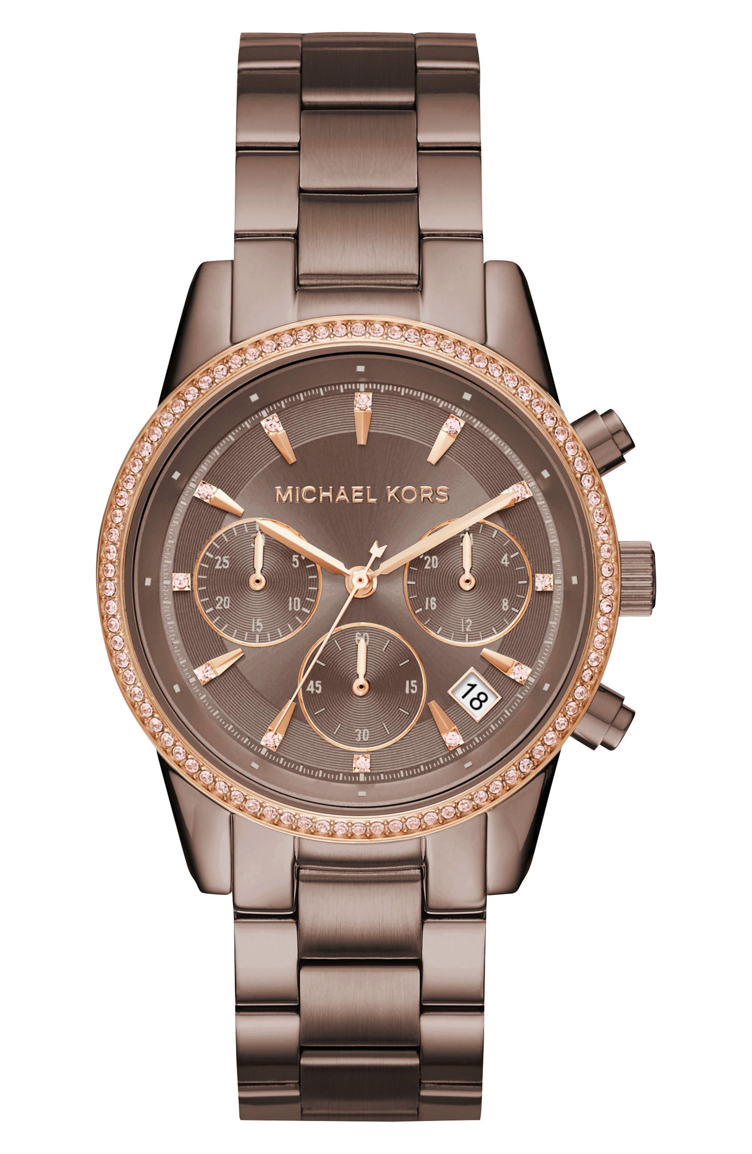 Ritz Chronograph Bracelet Watch, 37mm,                             Main thumbnail 2, color,