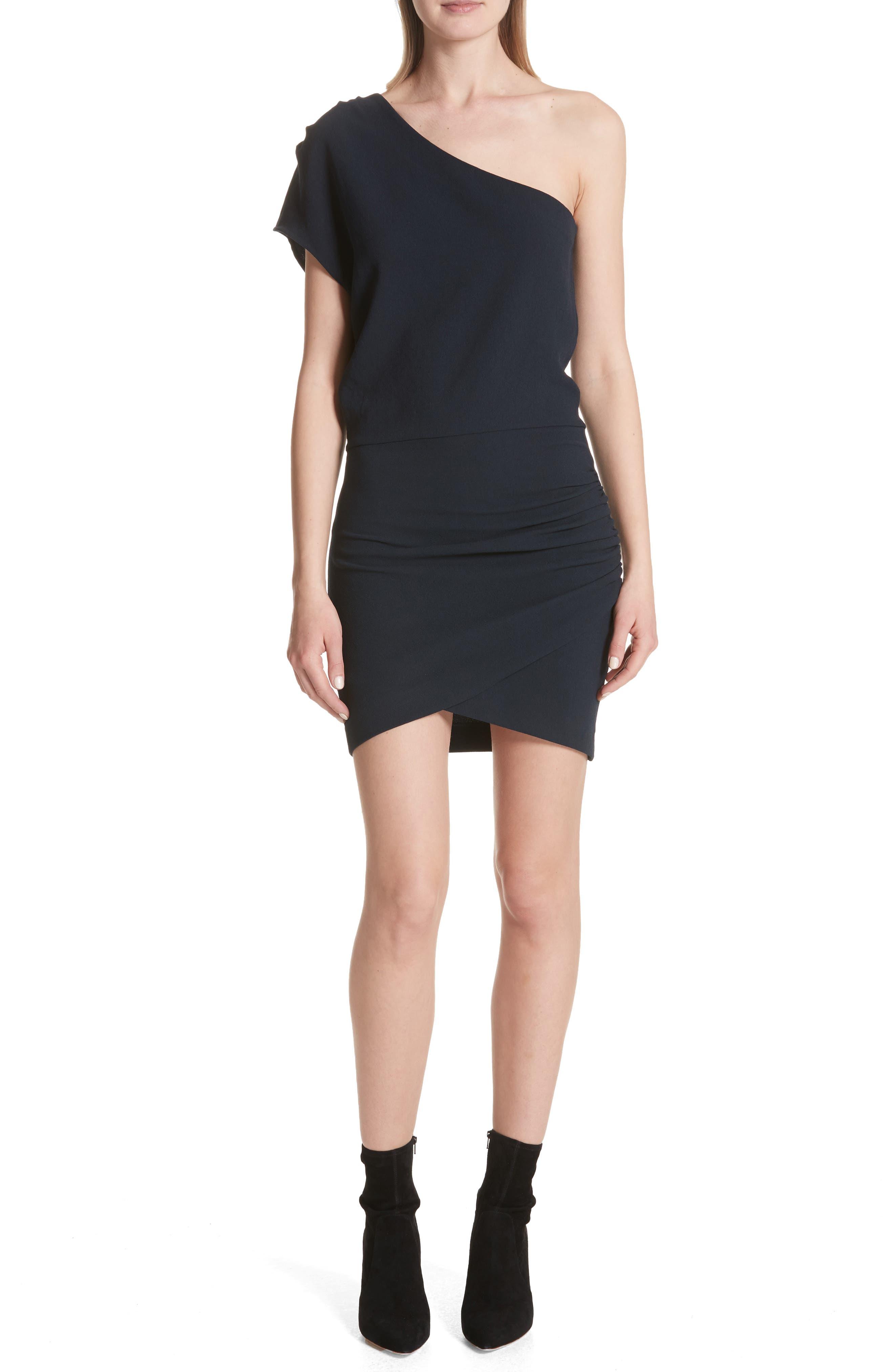 Davov One-Shoulder Envelope Hem Dress,                             Main thumbnail 2, color,