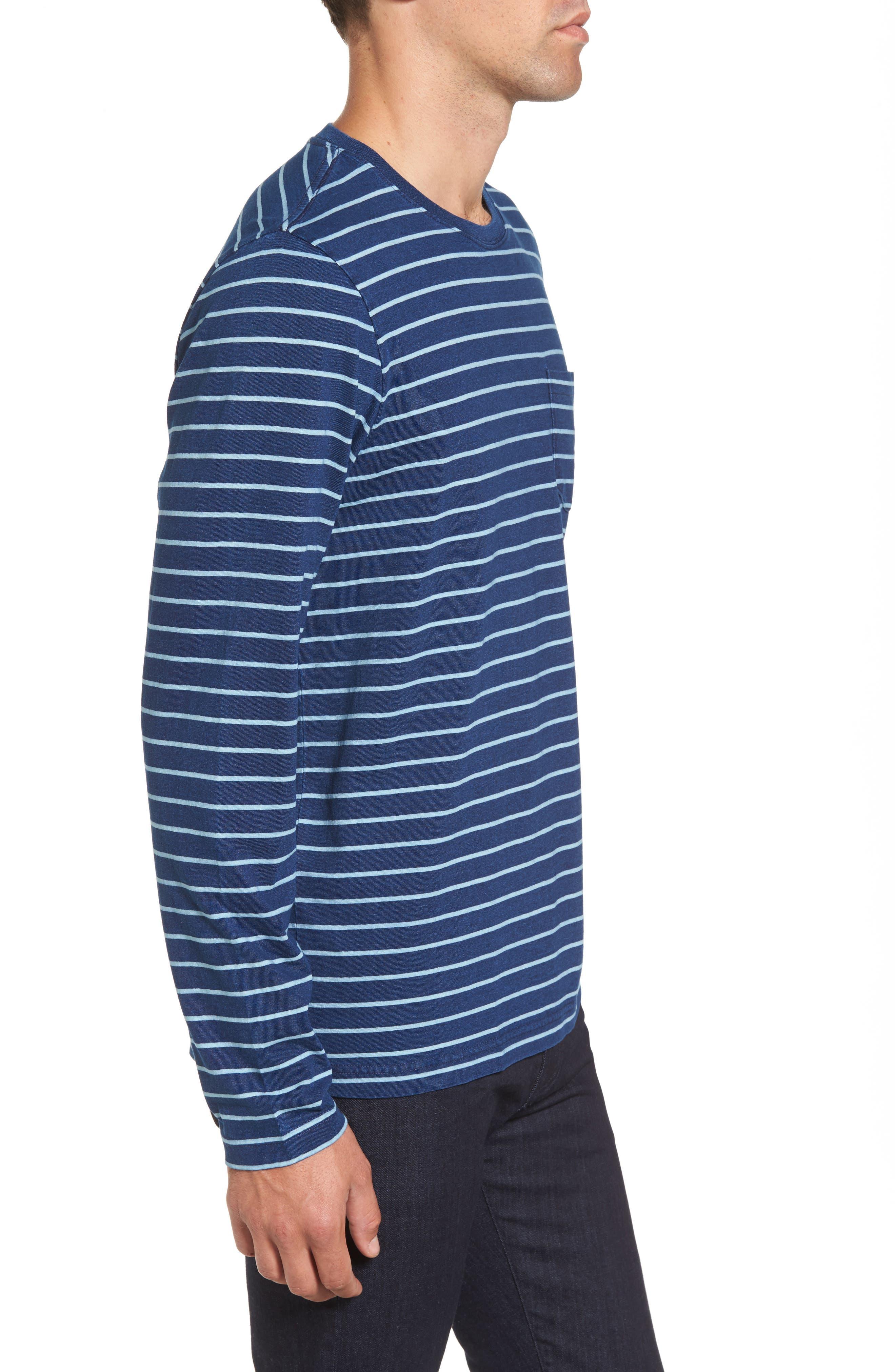 Sailor Stripe Jersey T-Shirt,                             Alternate thumbnail 3, color,                             104