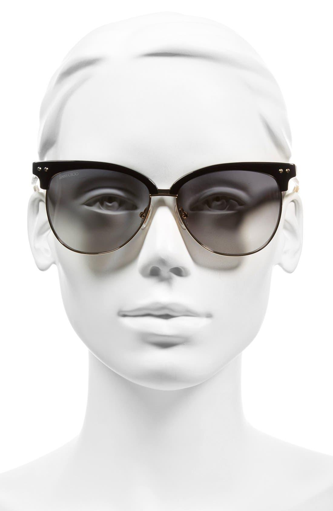 'Aryaya' 57mm Retro Sunglasses,                             Alternate thumbnail 4, color,