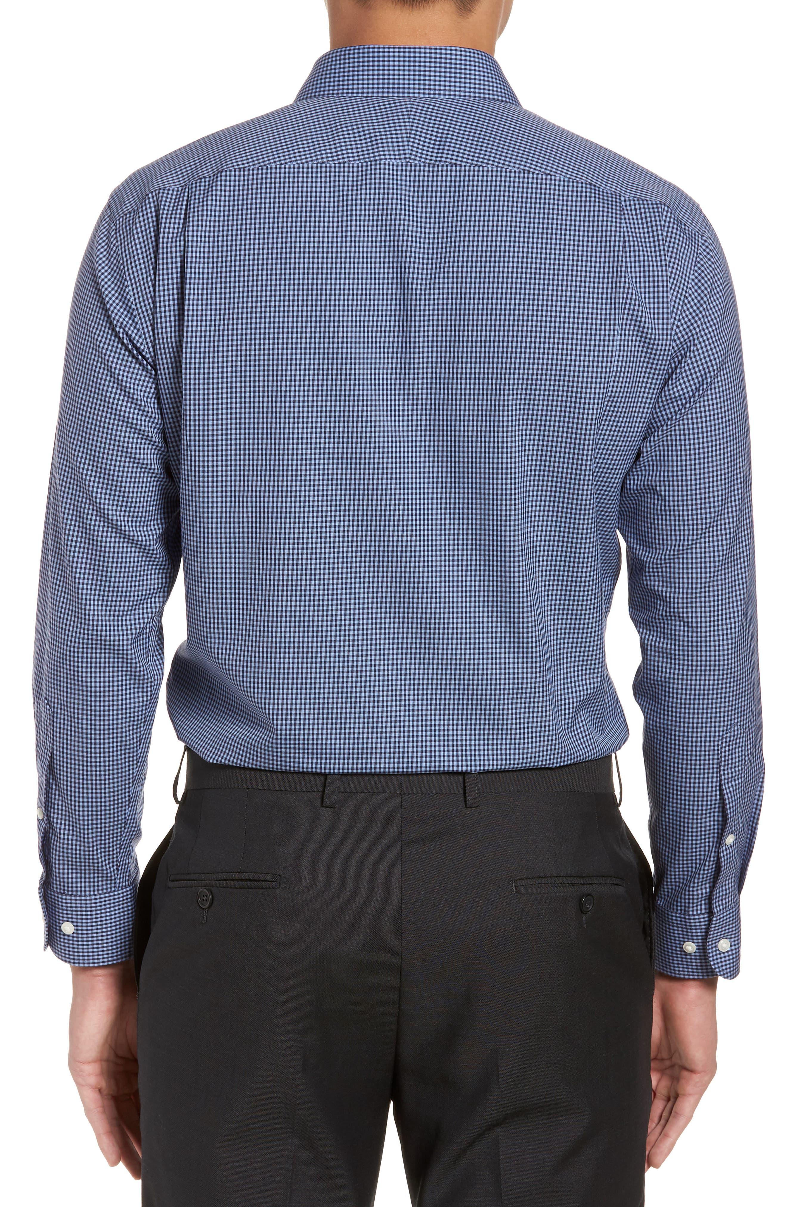Smartcare<sup>™</sup> Trim Fit Check Dress Shirt,                             Alternate thumbnail 10, color,